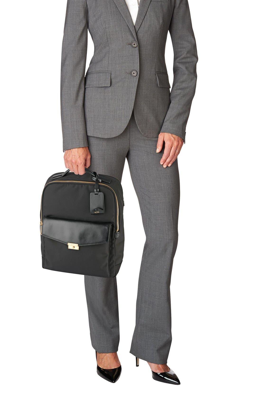 'Larkin Laurel' Nylon Commuter Backpack,                             Alternate thumbnail 2, color,                             001