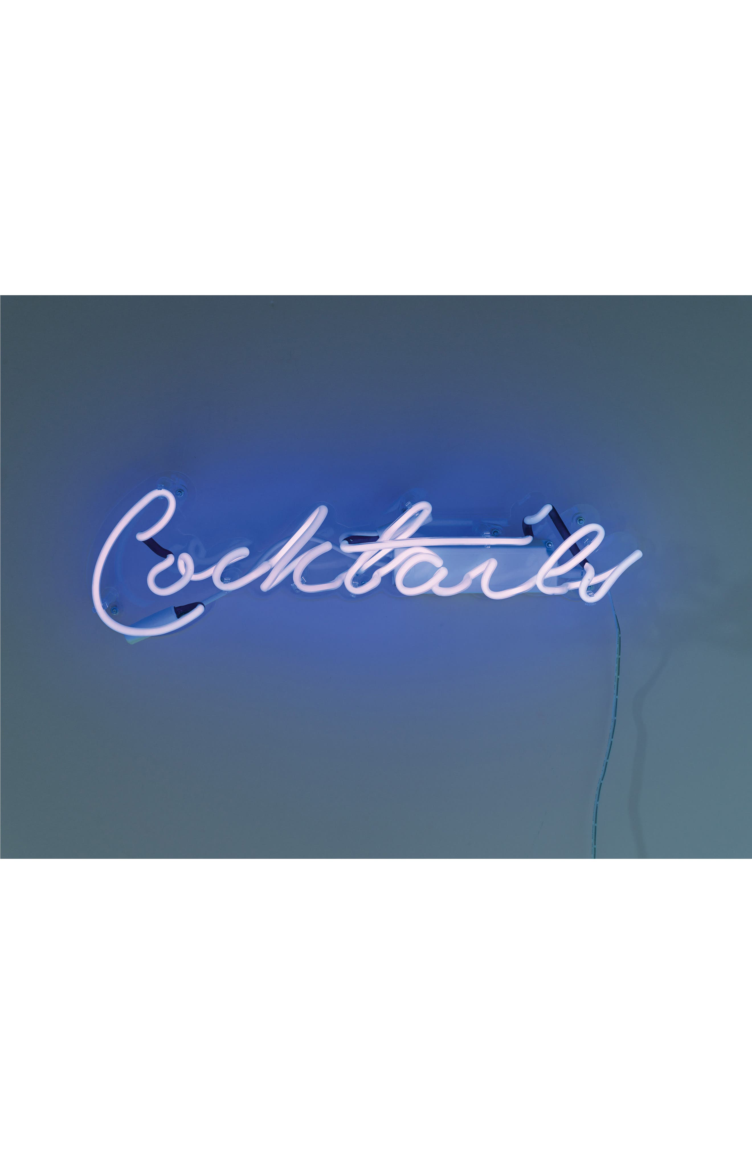 Cocktails Neon Light Wall Art,                         Main,                         color, 400
