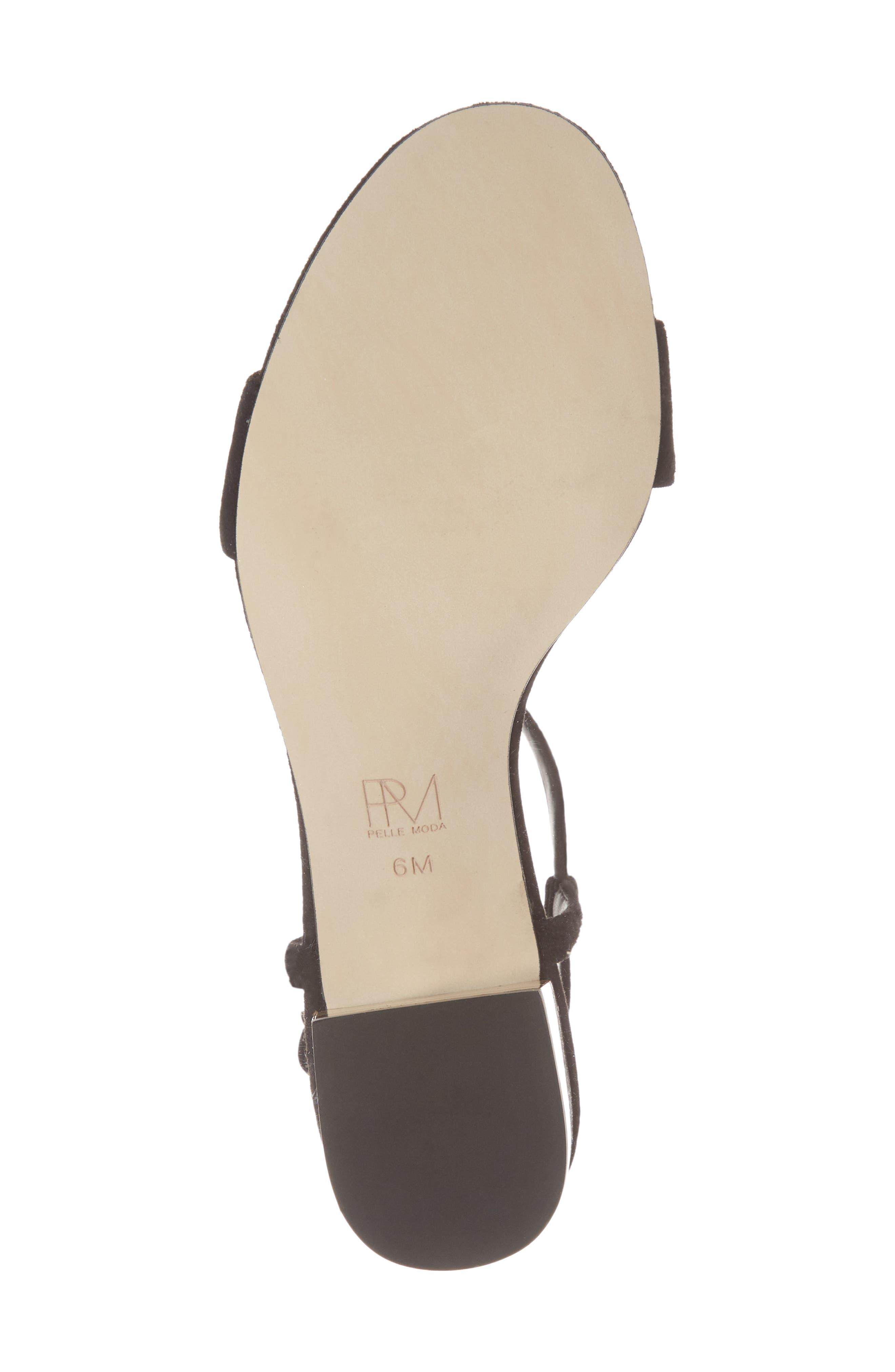 Alicia Block Heel Sandal,                             Alternate thumbnail 6, color,                             BLACK SUEDE