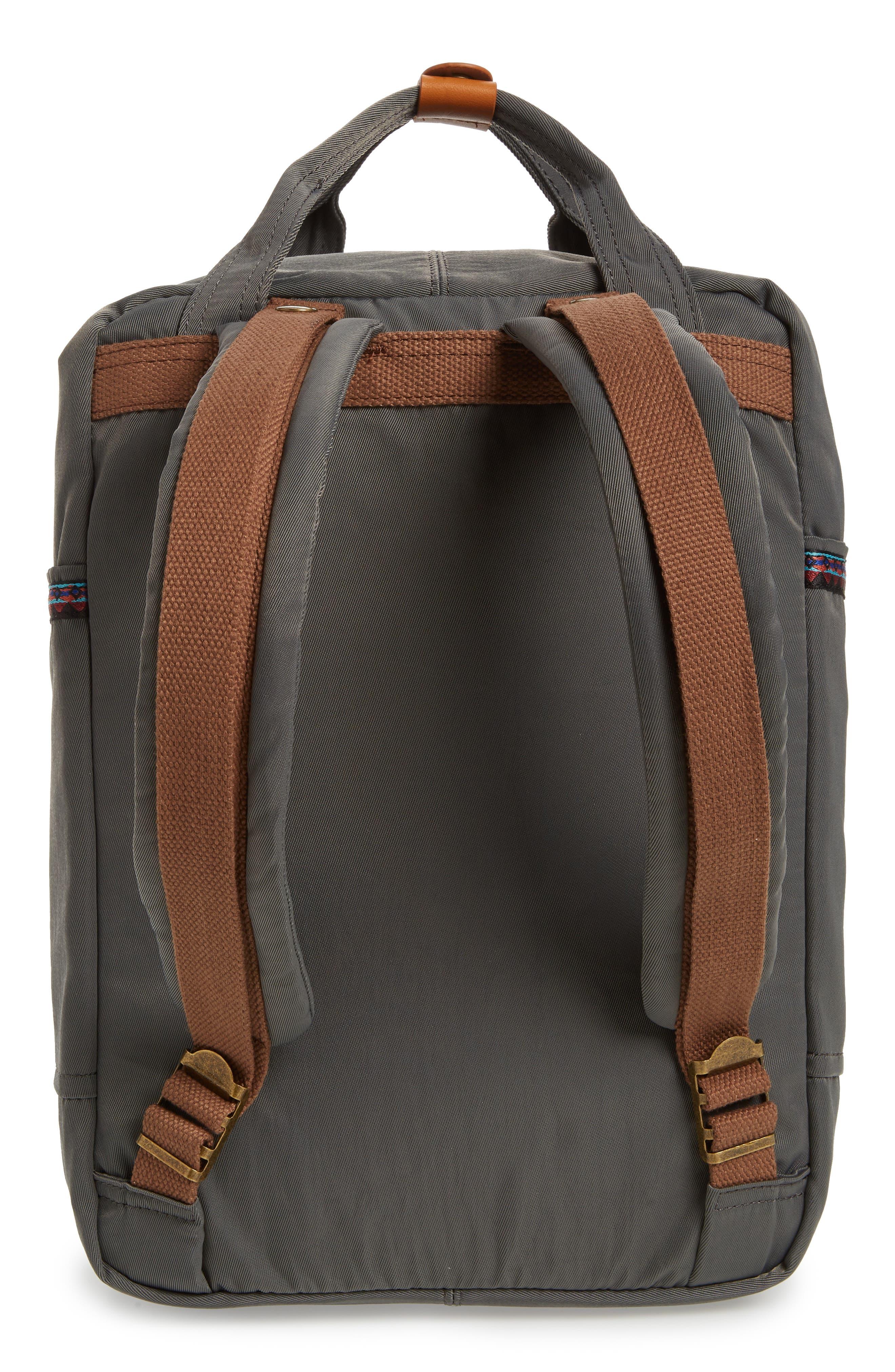 Macaroon Bo-He Water Resistant Backpack,                             Alternate thumbnail 3, color,                             CHARCOAL