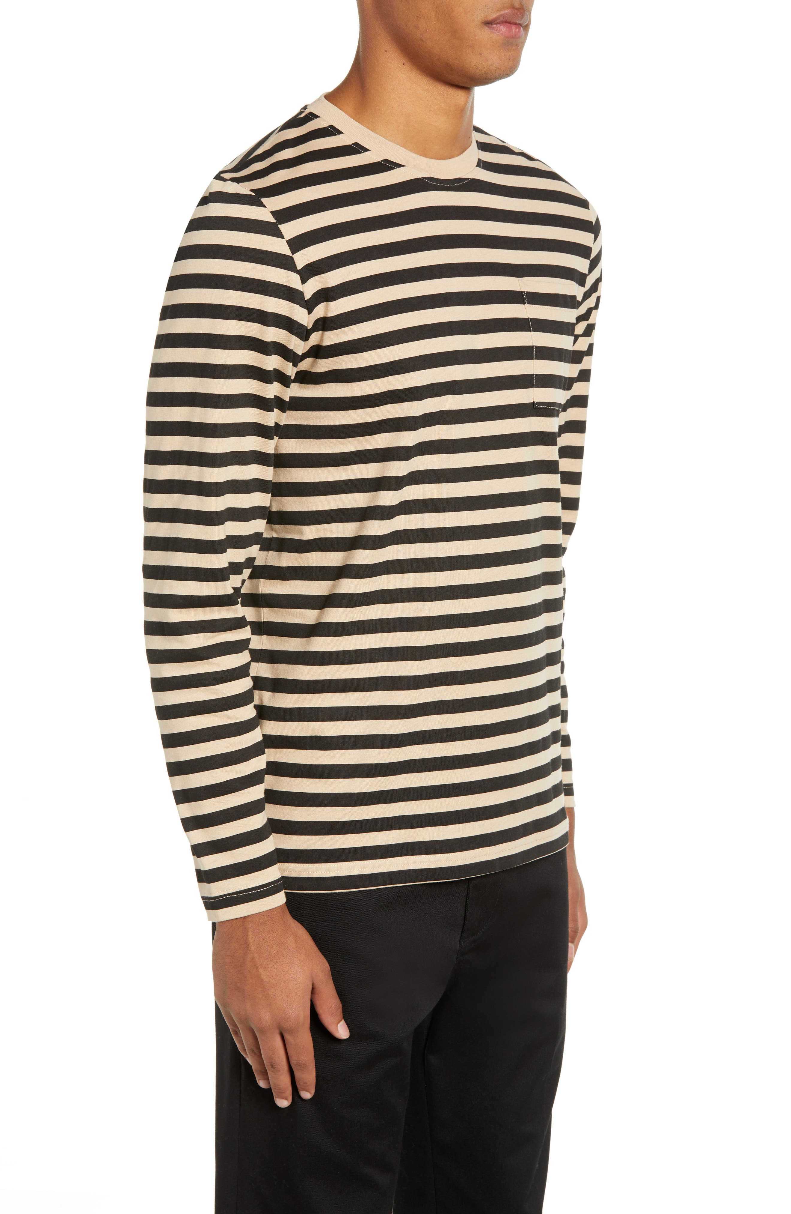 Makai Stripe Long Sleeve Pocket T-Shirt,                             Alternate thumbnail 3, color,                             271