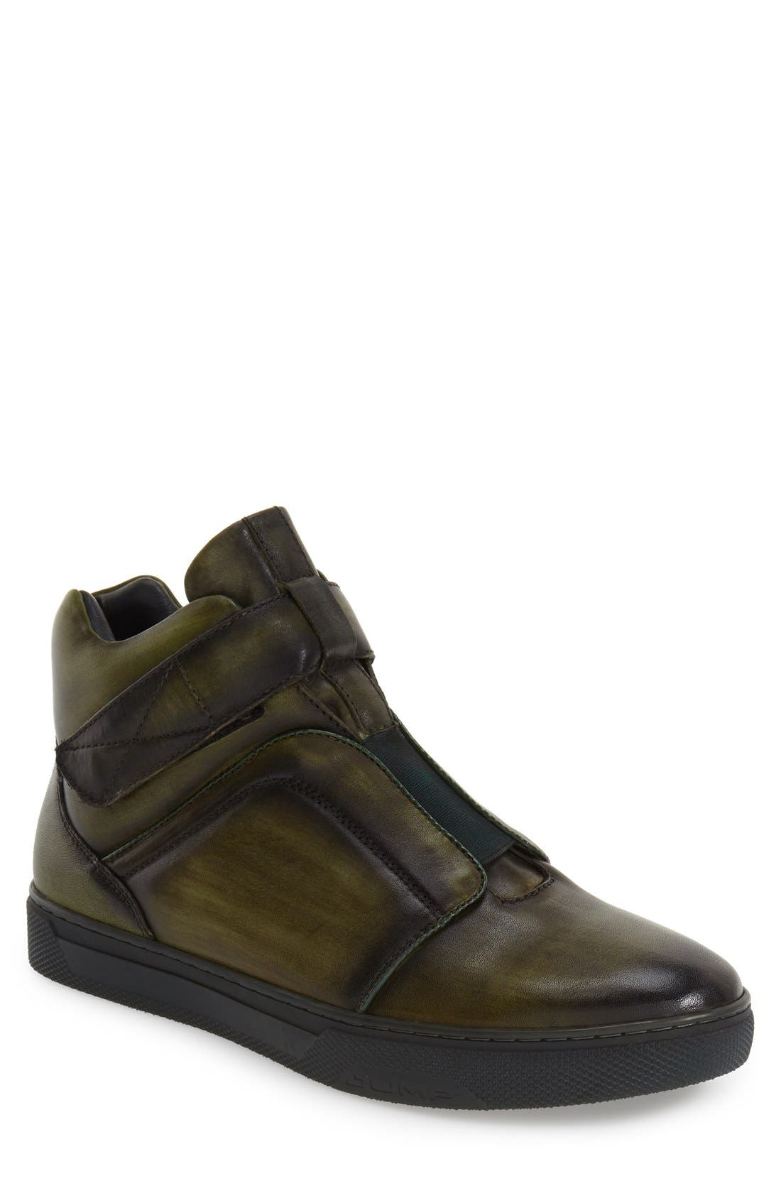 Jump Scully High Top Sneaker, Green