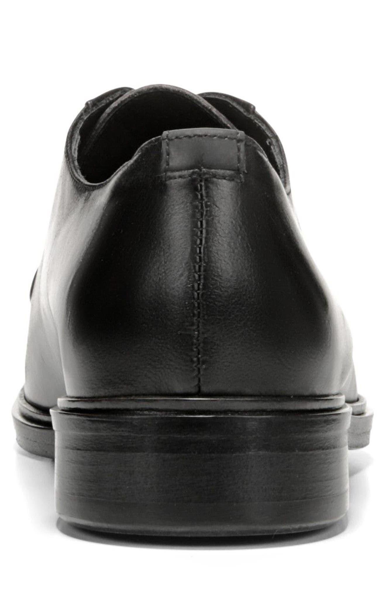 Boreum Plain Toe Derby,                             Alternate thumbnail 7, color,                             BLACK