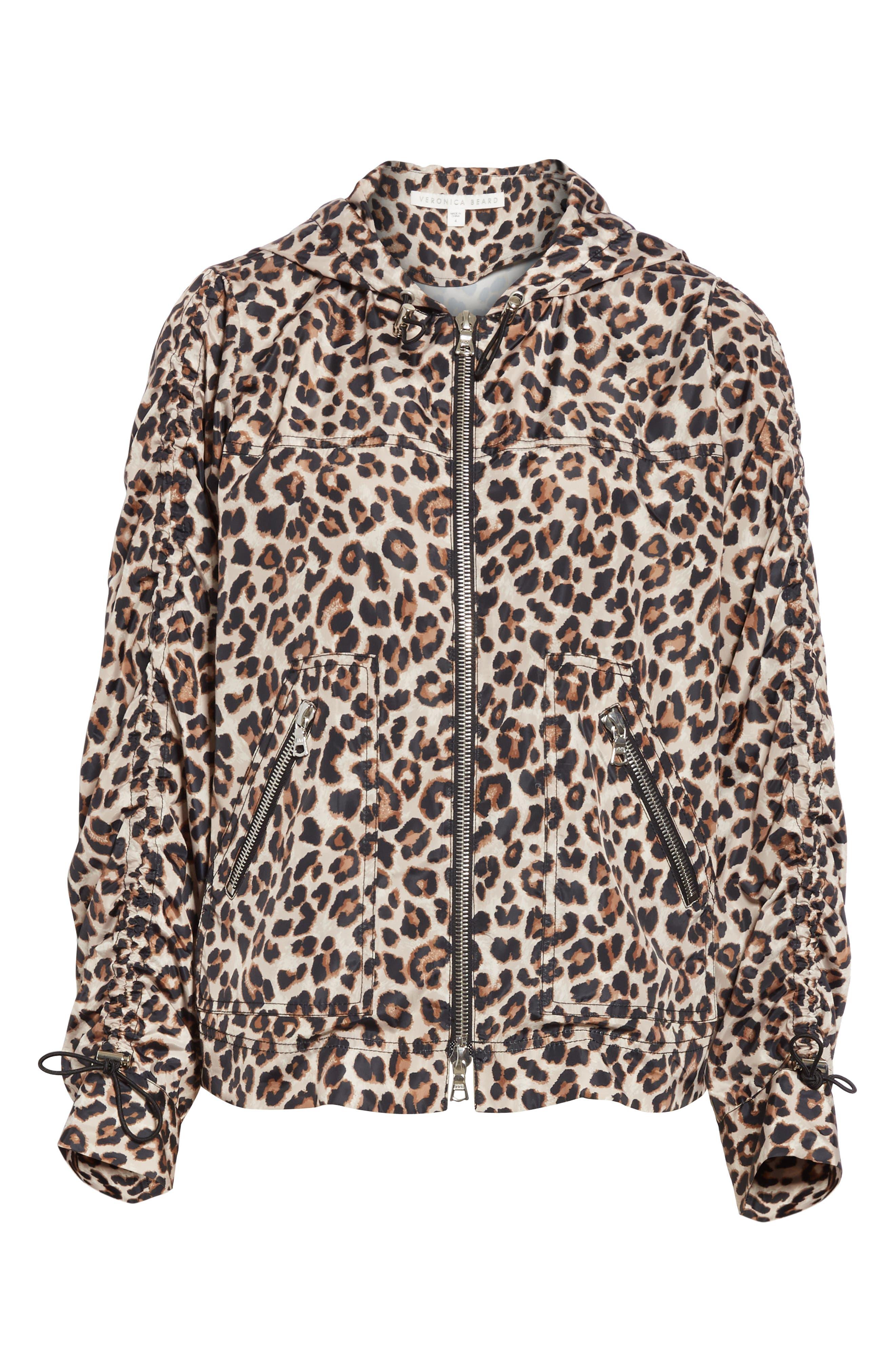 Sibila Leopard Print Jacket,                             Alternate thumbnail 5, color,                             200