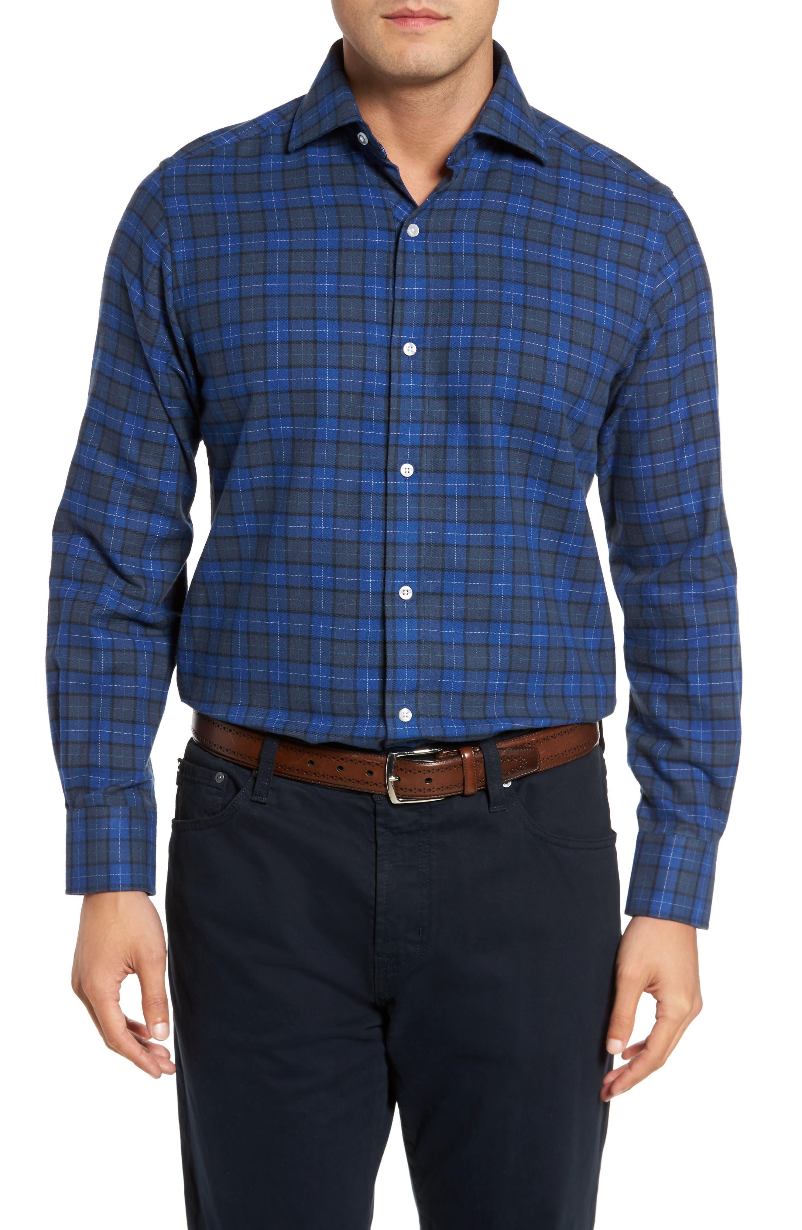 Cankton Plaid Sport Shirt,                             Main thumbnail 1, color,                             400