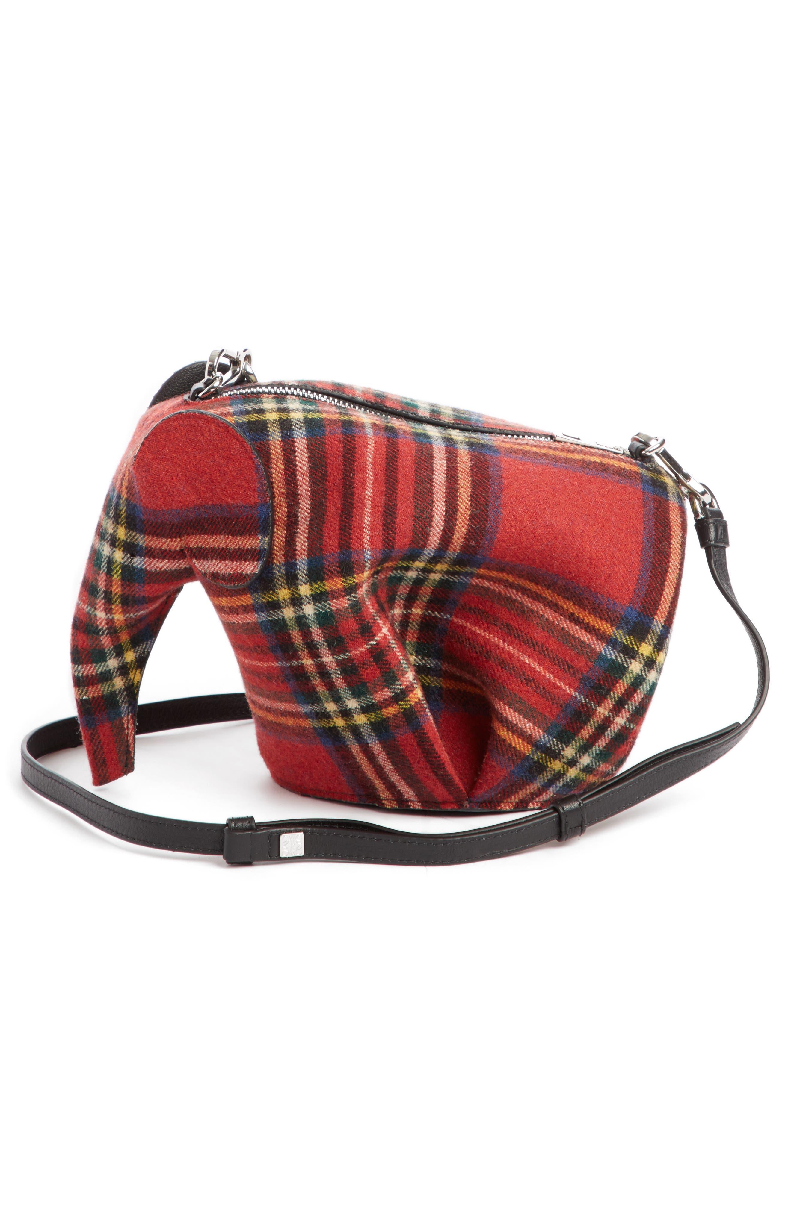 Mini Elephant Tartan Wool Crossbody Bag,                             Alternate thumbnail 2, color,                             614