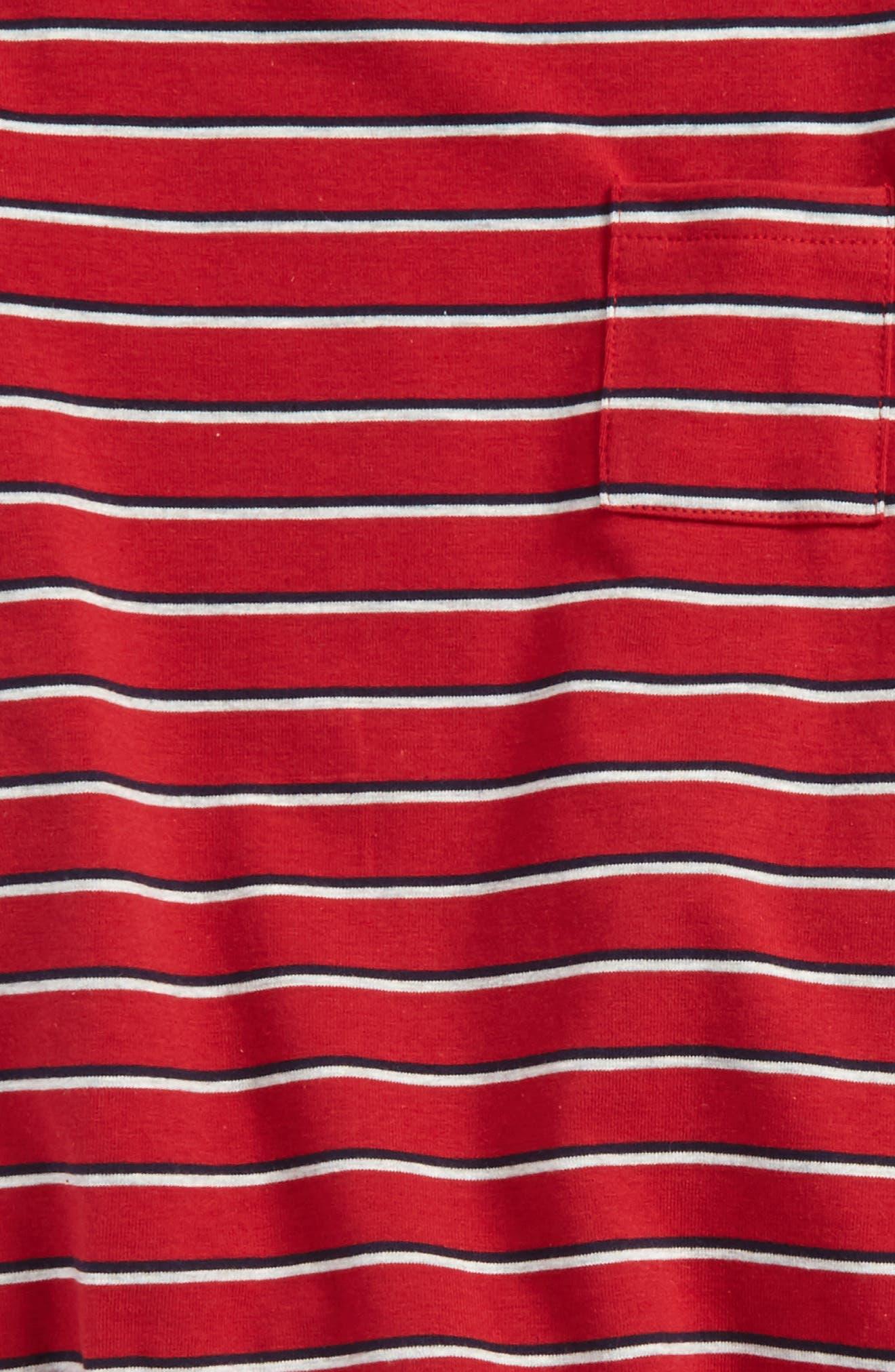 Stripe Shirt & Jeans Set,                             Alternate thumbnail 3, color,                             466