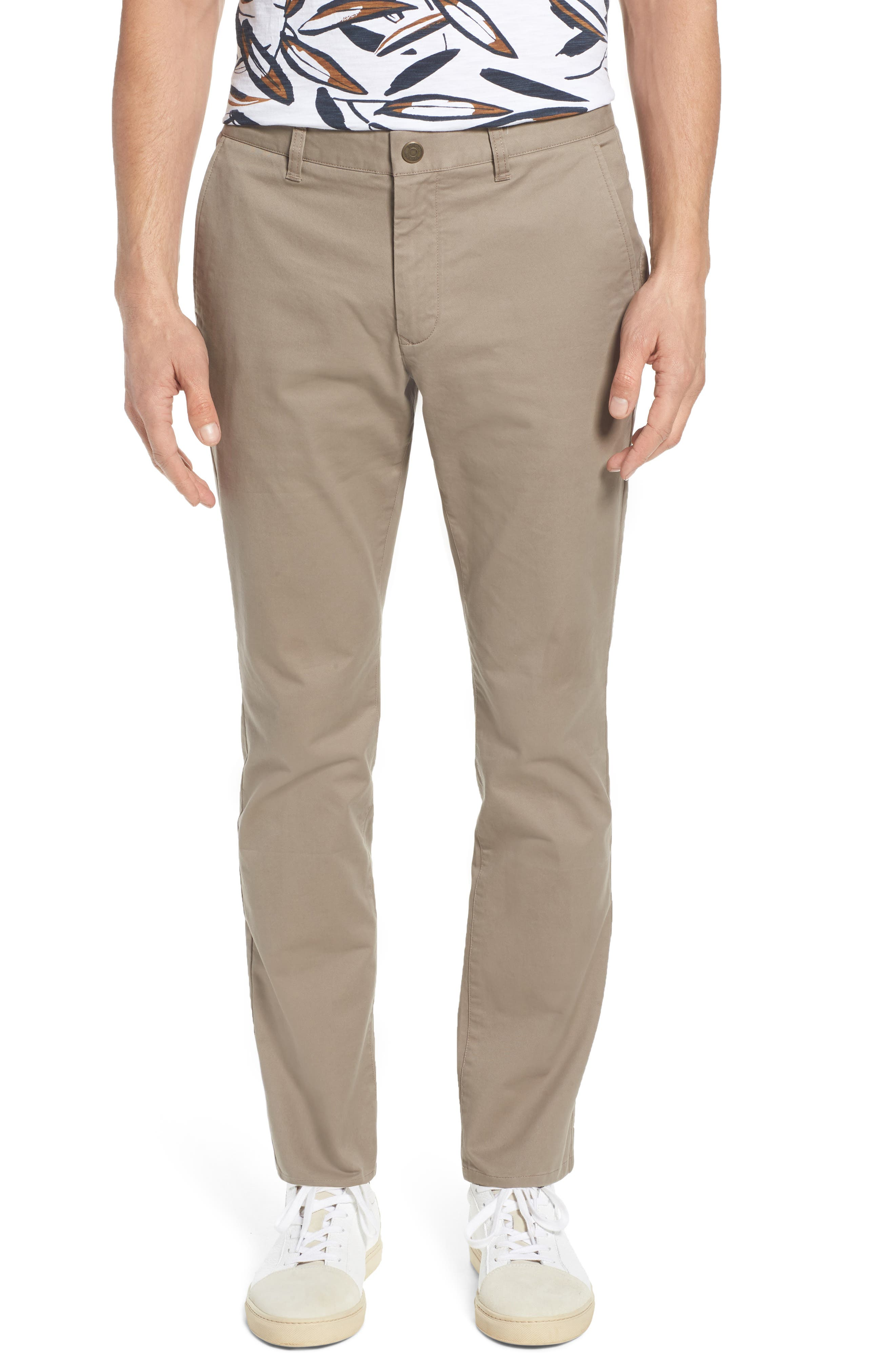 Tailored Fit Washed Stretch Cotton Chinos,                             Main thumbnail 4, color,