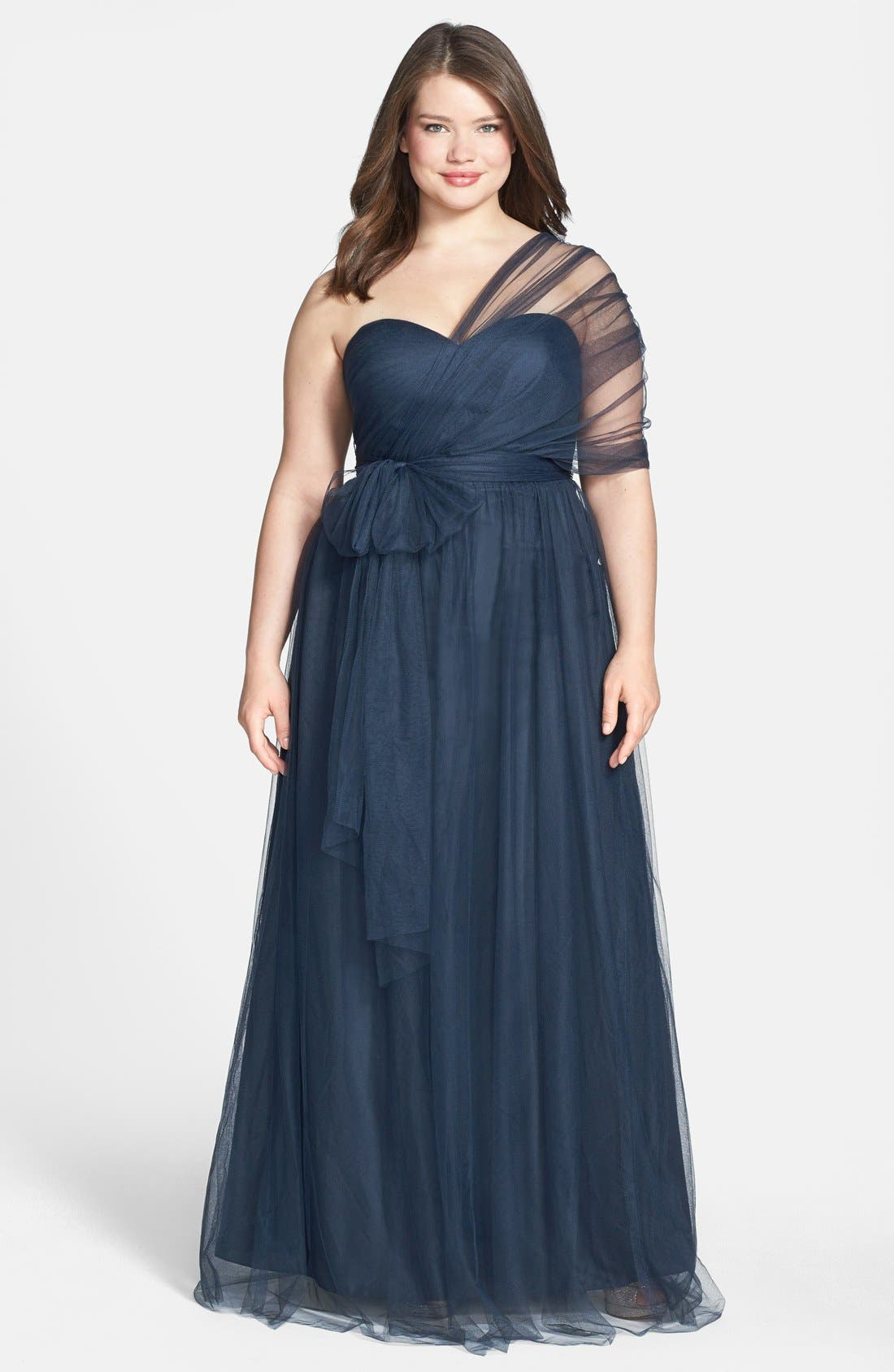 Annabelle Convertible Tulle Column Dress,                             Alternate thumbnail 194, color,