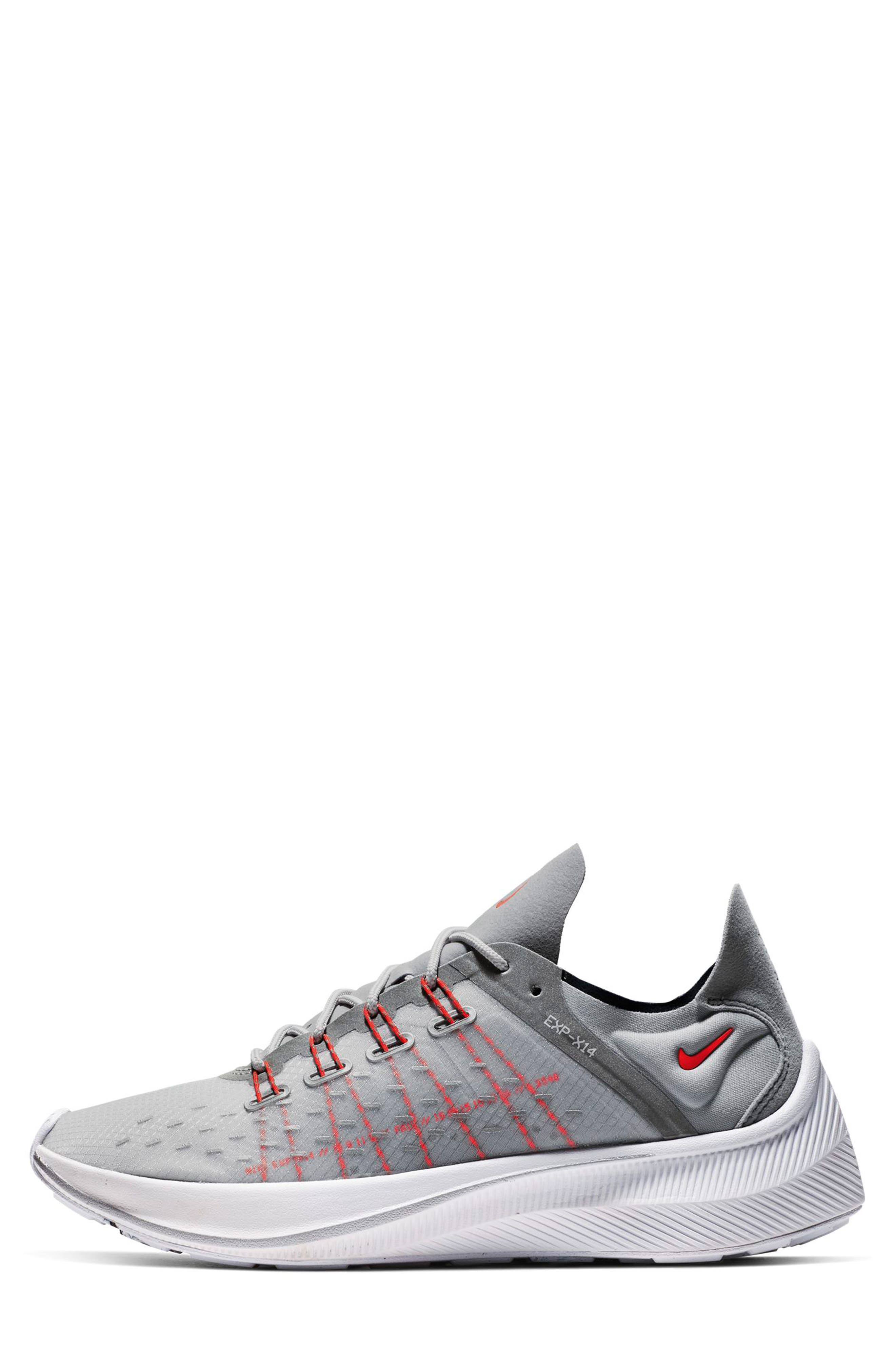 EXP-X14 HR Running Shoe,                             Alternate thumbnail 3, color,                             SILVER/ CRIMSON/ OBSIDIAN