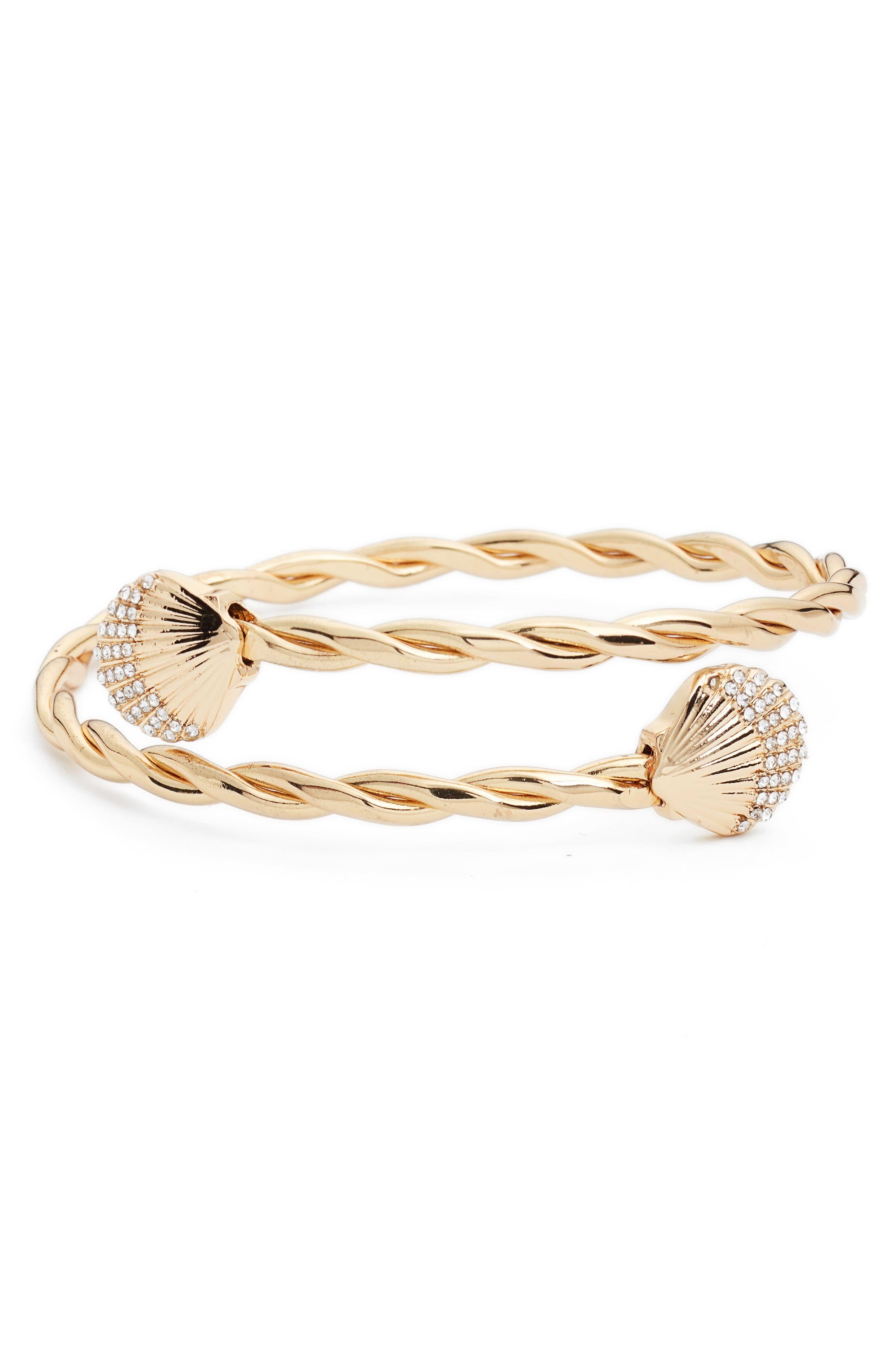 Celestial Seas Arm Cuff Bracelet,                             Main thumbnail 1, color,                             GOLD METALLIC