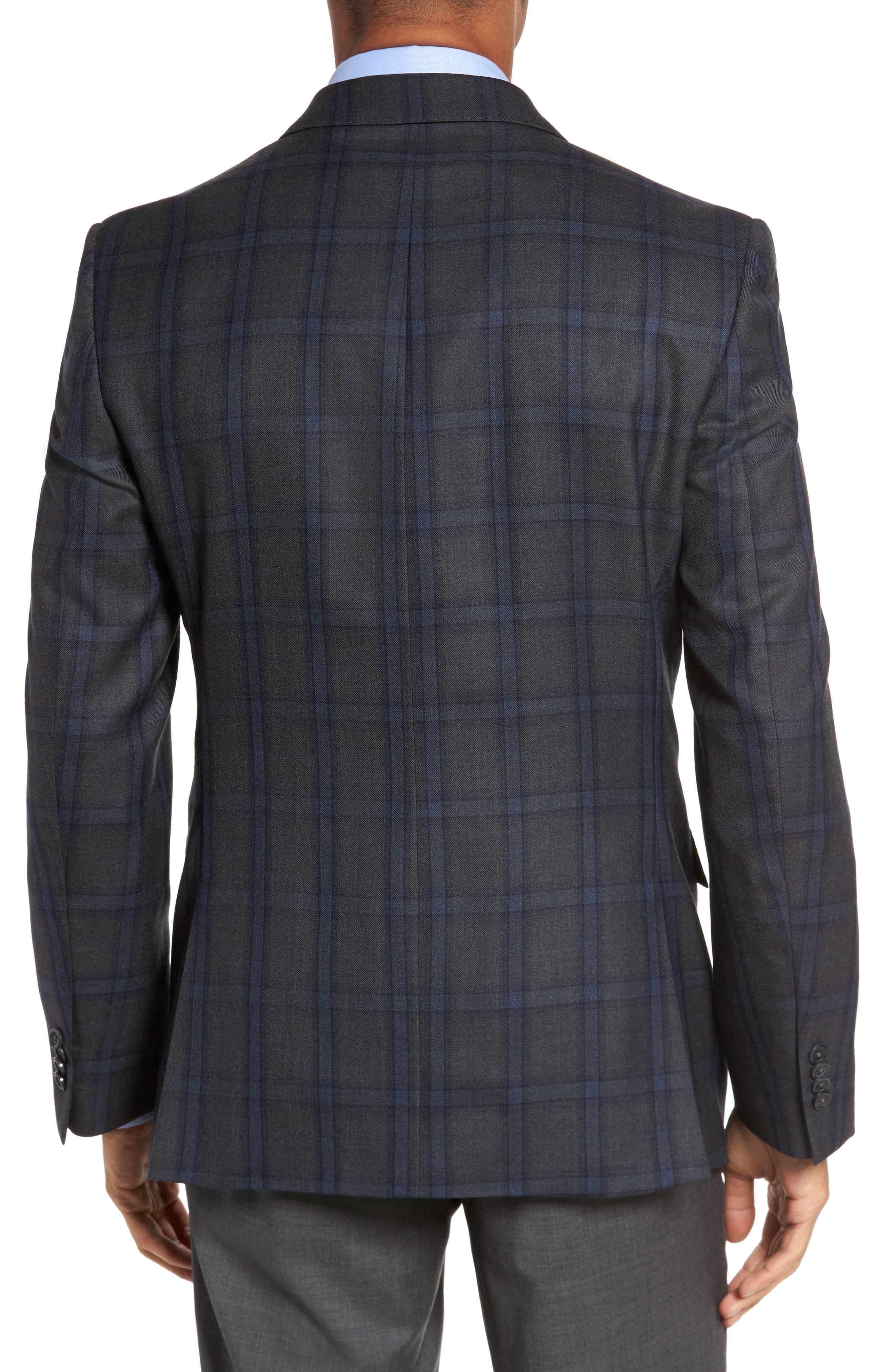 Classic Fit Plaid Wool Sport Coat,                             Alternate thumbnail 2, color,                             020