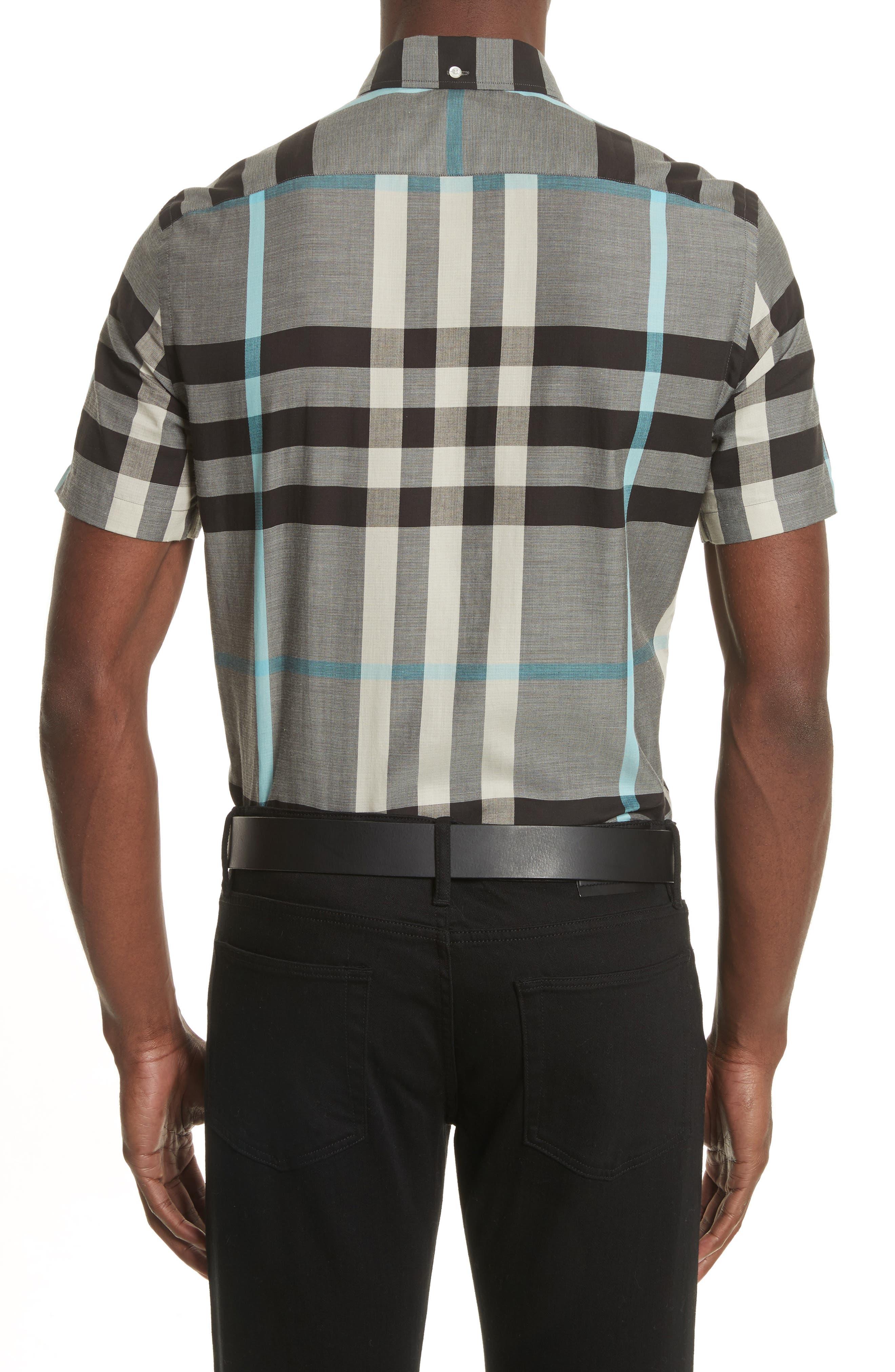 Moore Regular Fit Plaid Short Sleeve Sport Shirt,                             Alternate thumbnail 2, color,                             053