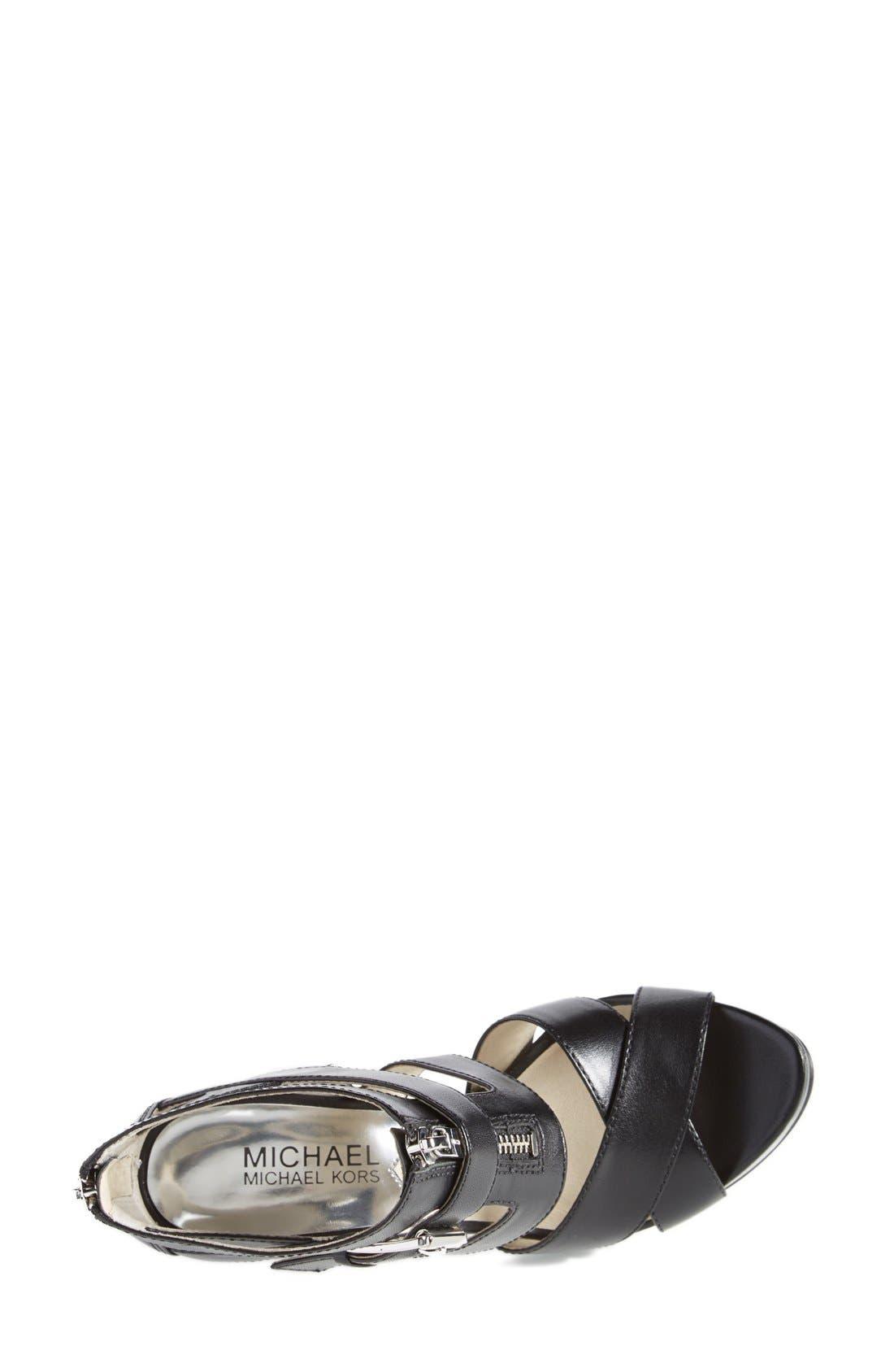 'Anya' Platform Sandal,                             Alternate thumbnail 2, color,                             001
