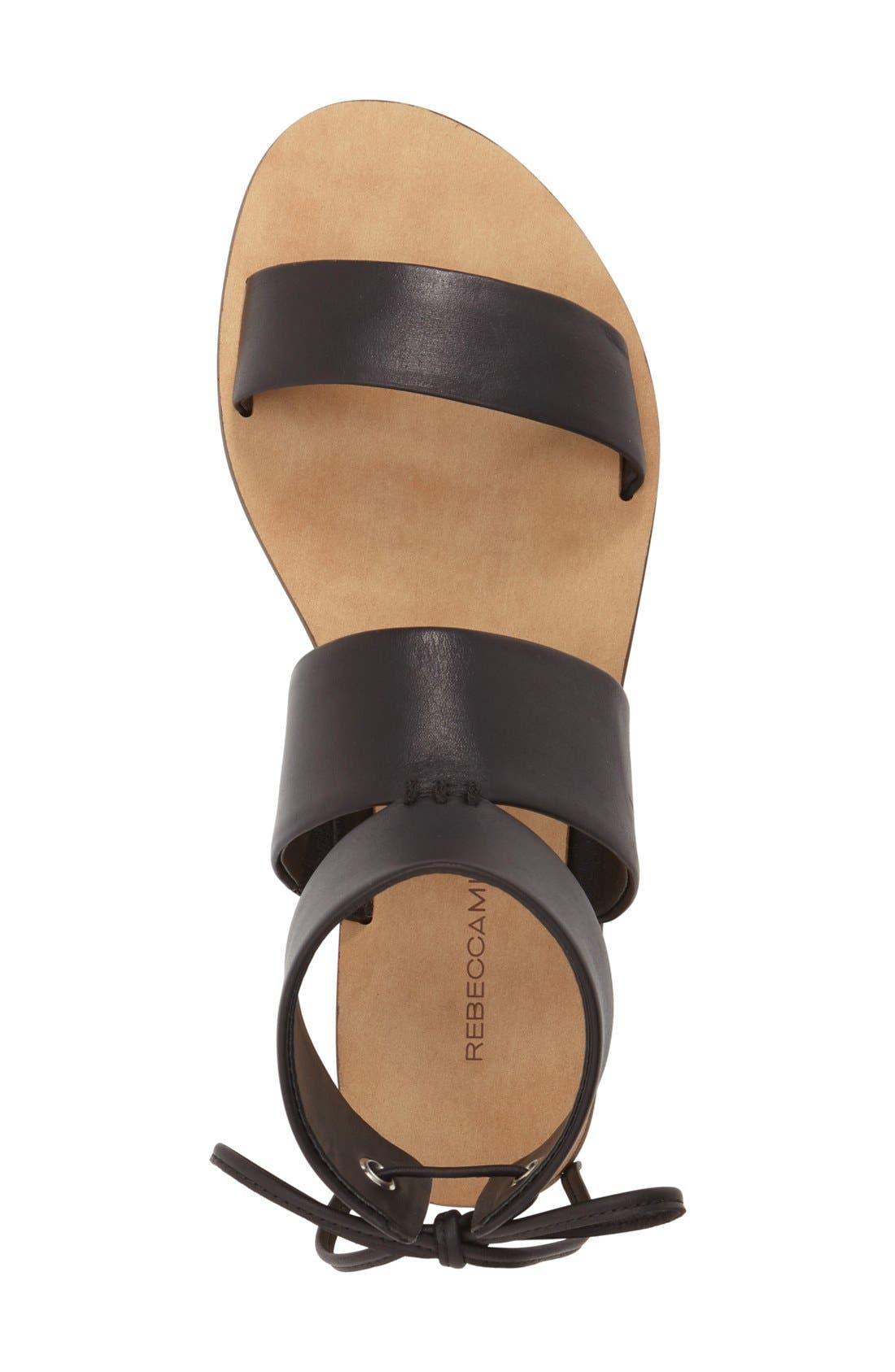 'Emma' Ankle Cuff Sandal,                             Alternate thumbnail 3, color,                             001