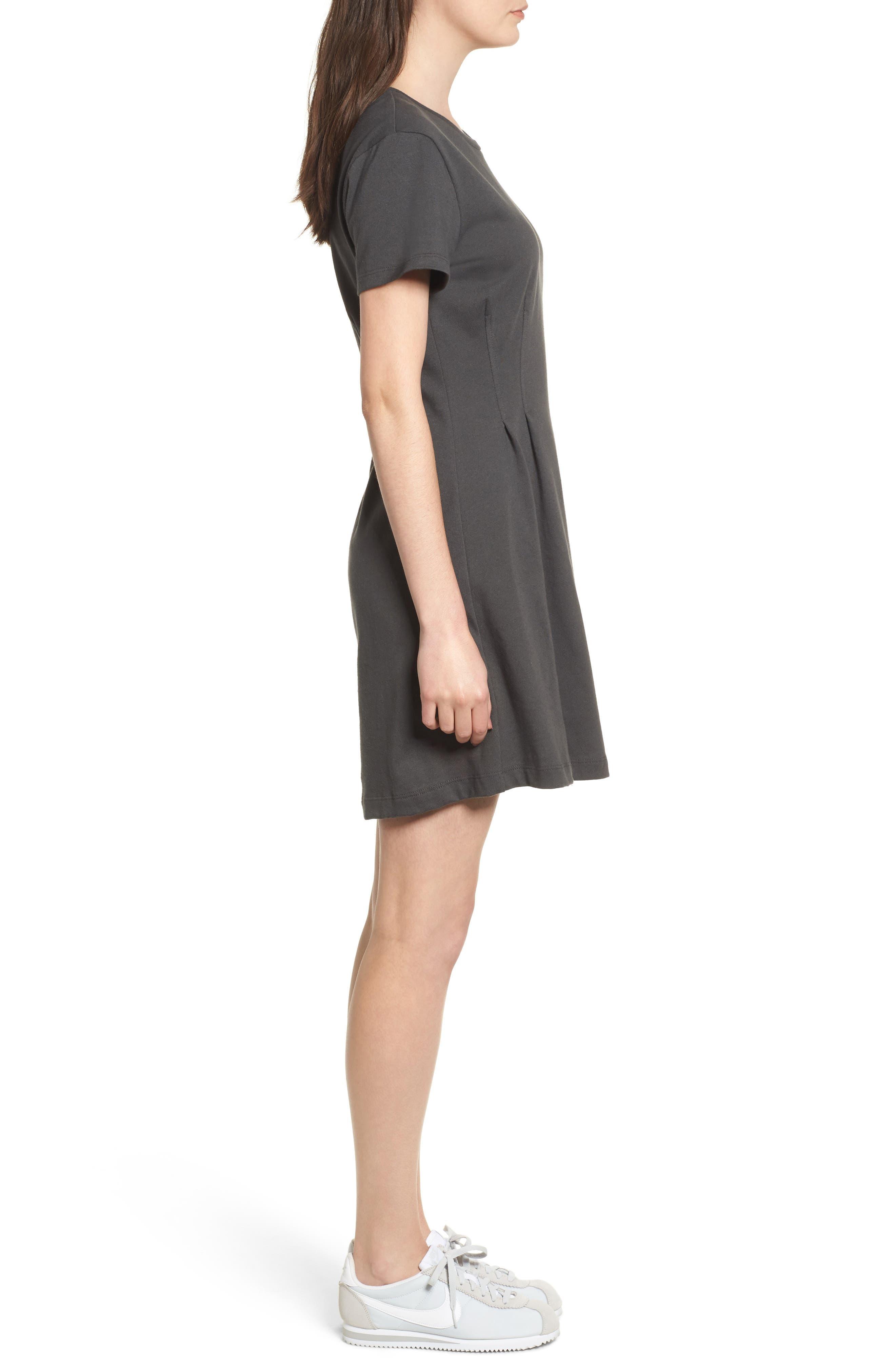 Cotton T-Shirt Dress,                             Alternate thumbnail 3, color,                             020