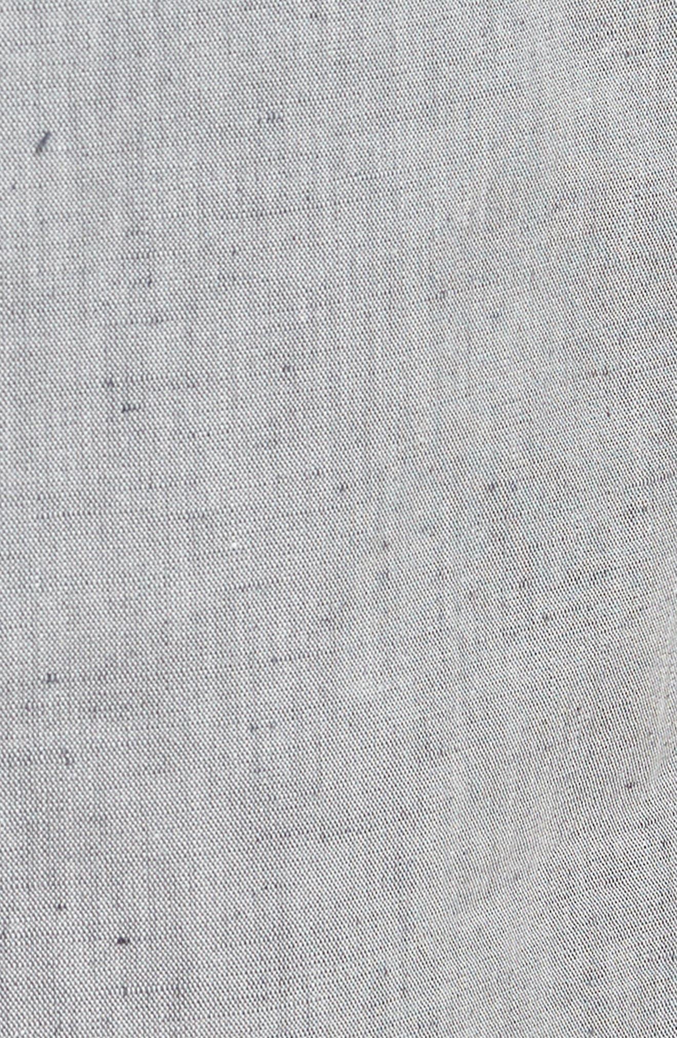 Pirko Flat Front Linen & Cotton Trousers,                             Alternate thumbnail 5, color,                             020