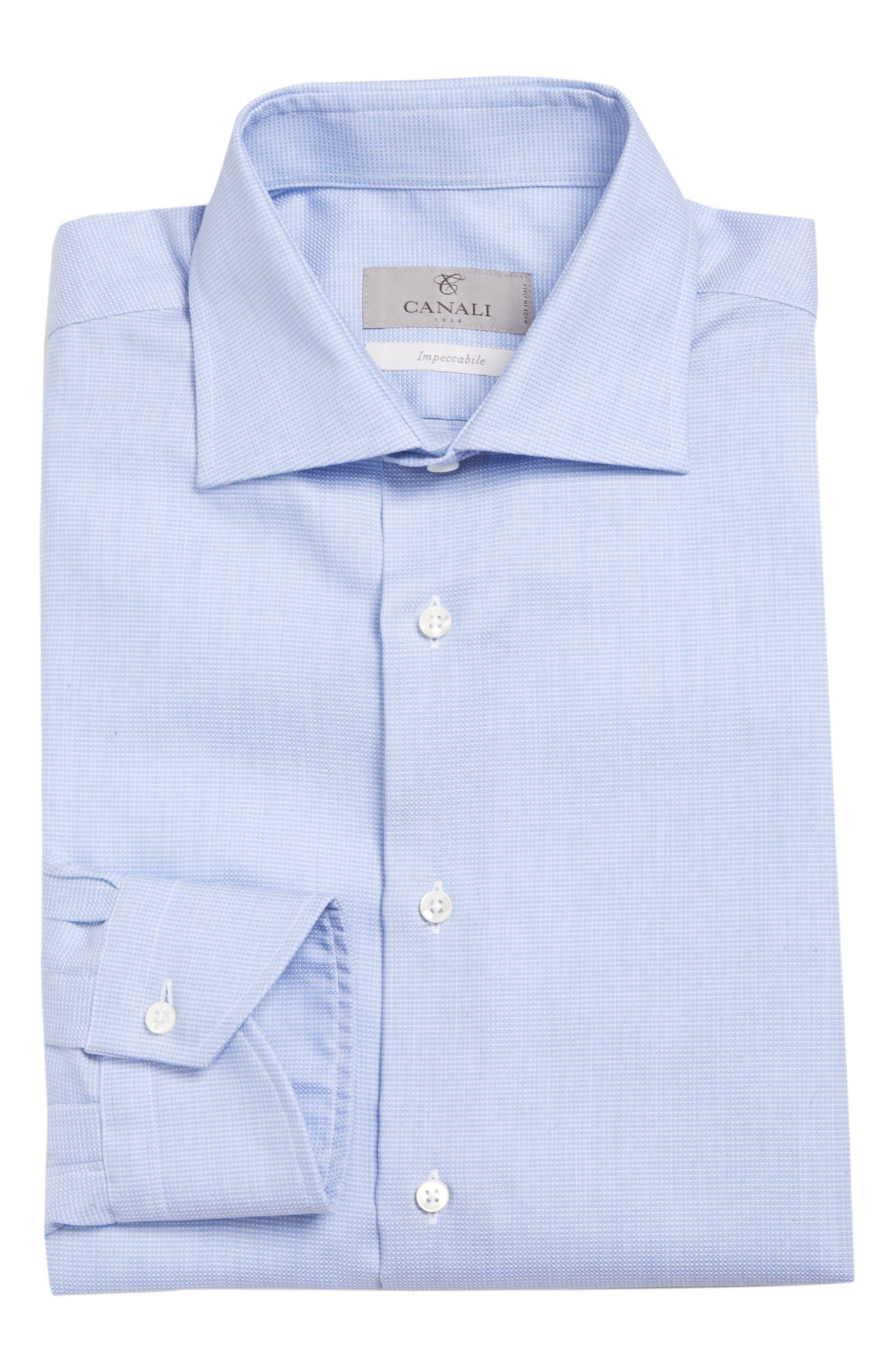 Regular Fit Solid Dress Shirt,                             Alternate thumbnail 5, color,