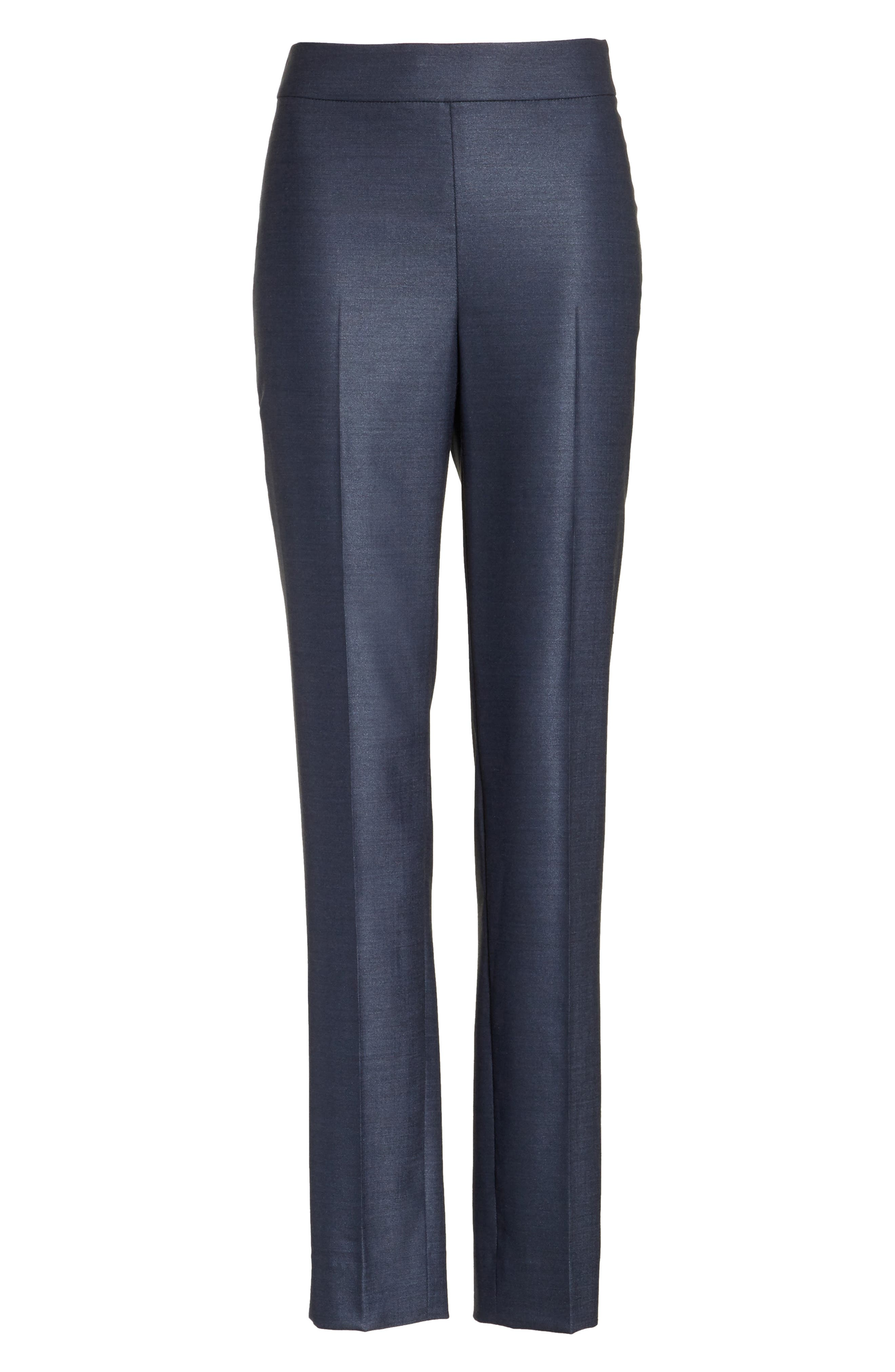 Stretch Birdseye Skinny Ankle Pants,                             Alternate thumbnail 6, color,                             450