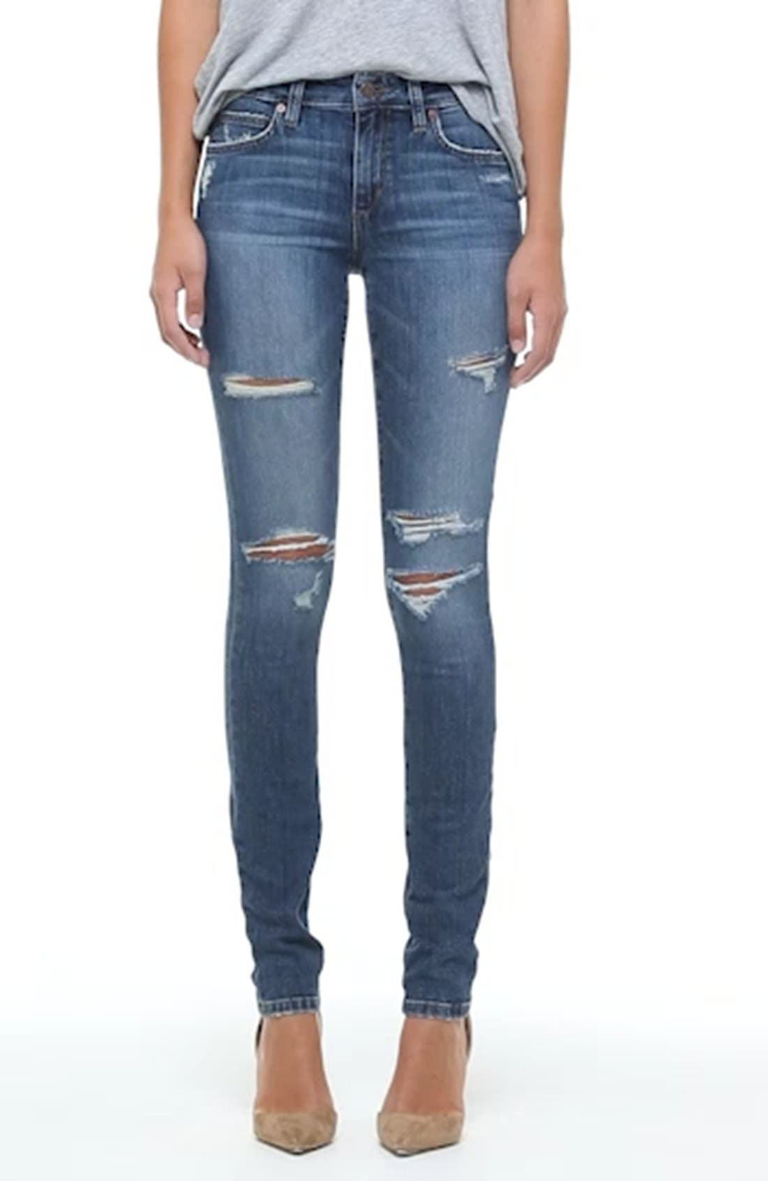 'The Icon' Skinny Jeans,                             Alternate thumbnail 4, color,                             410