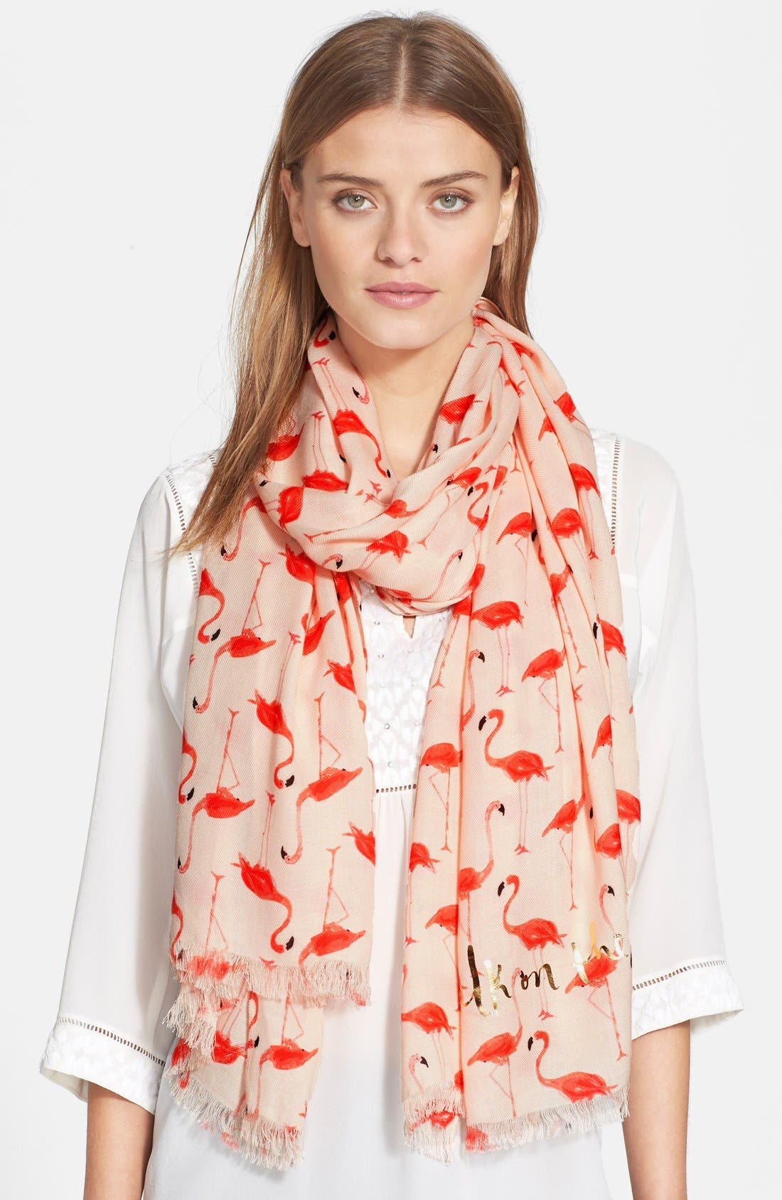 'flamingo' scarf,                             Main thumbnail 1, color,                             680