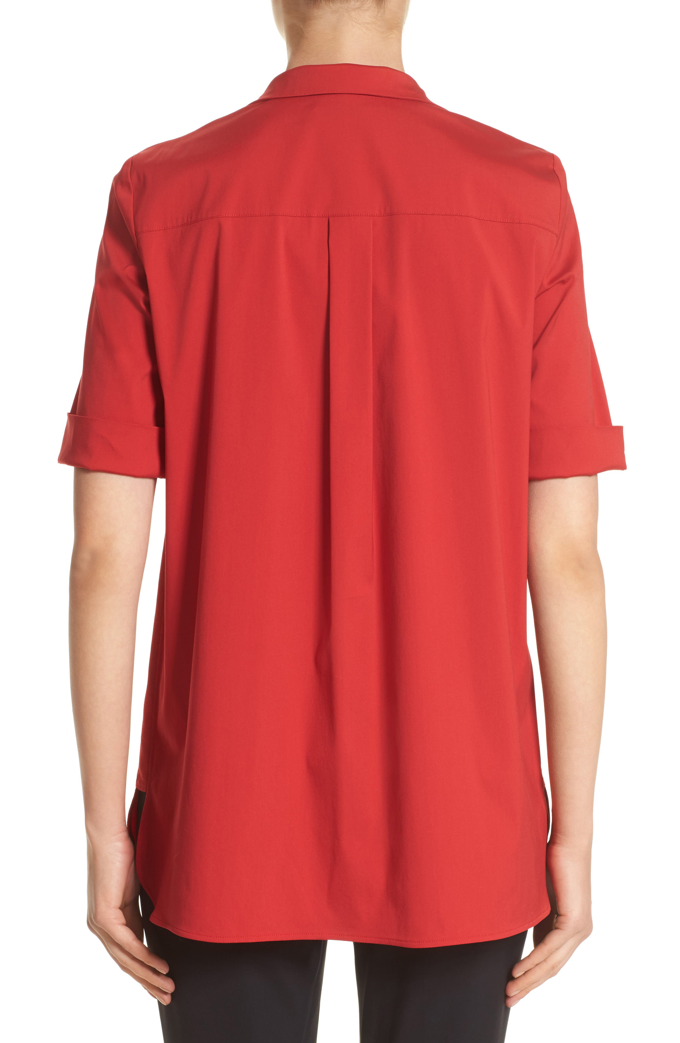 Daley High/Low Blouse,                             Alternate thumbnail 4, color,