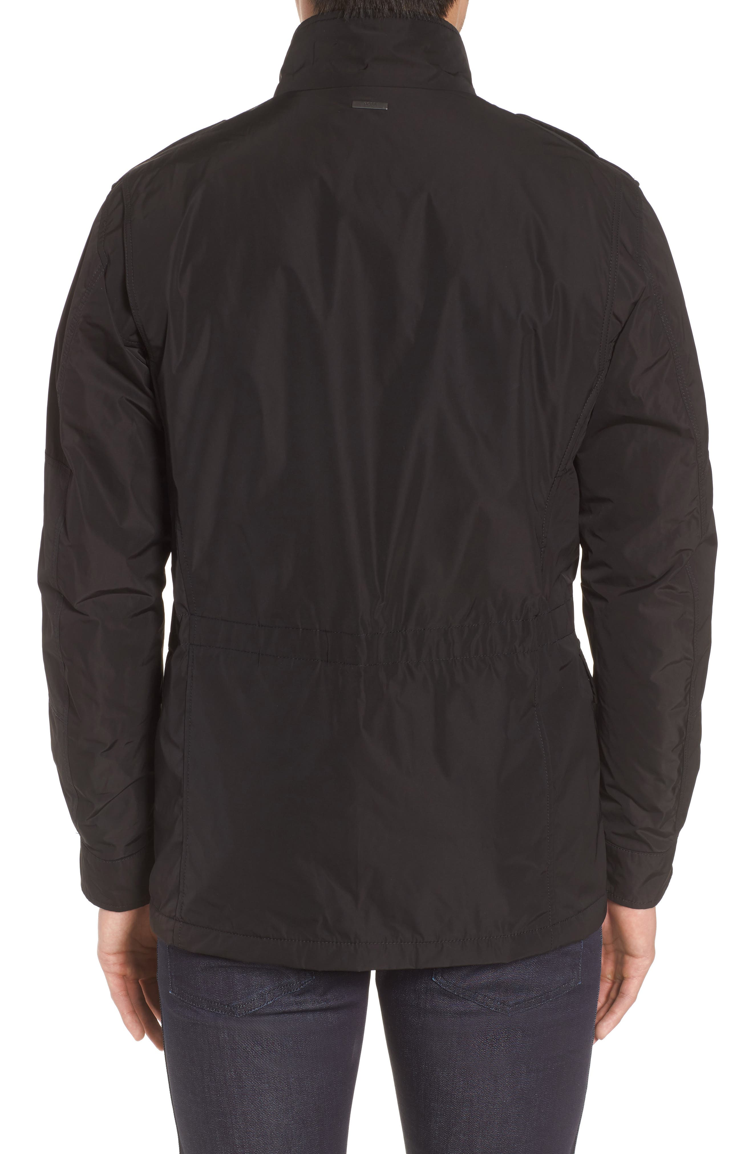 BOSS,                             Camino Regular Fit Field Jacket,                             Alternate thumbnail 2, color,                             001