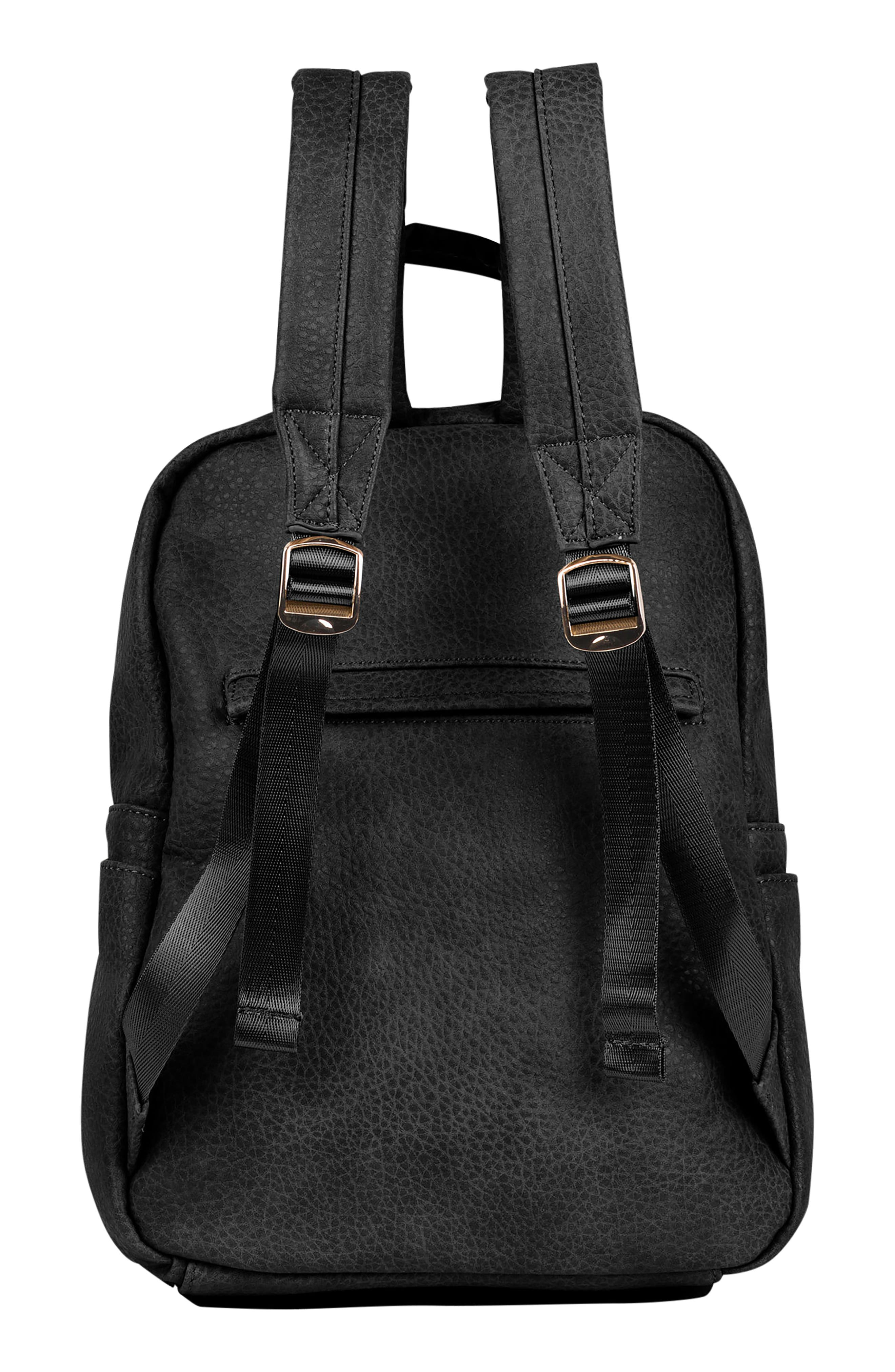 URBAN ORIGINALS,                             Bold Move Vegan Leather Laptop Backpack,                             Alternate thumbnail 2, color,                             BLACK