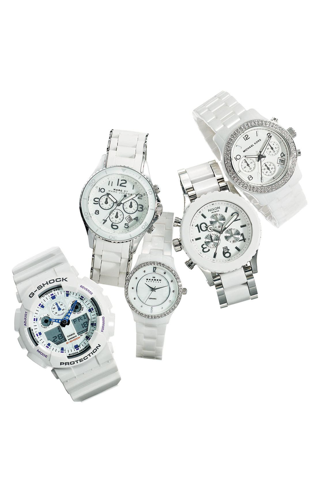 'Rock' Chronograph Silicone Bracelet Watch, 40mm,                             Alternate thumbnail 22, color,