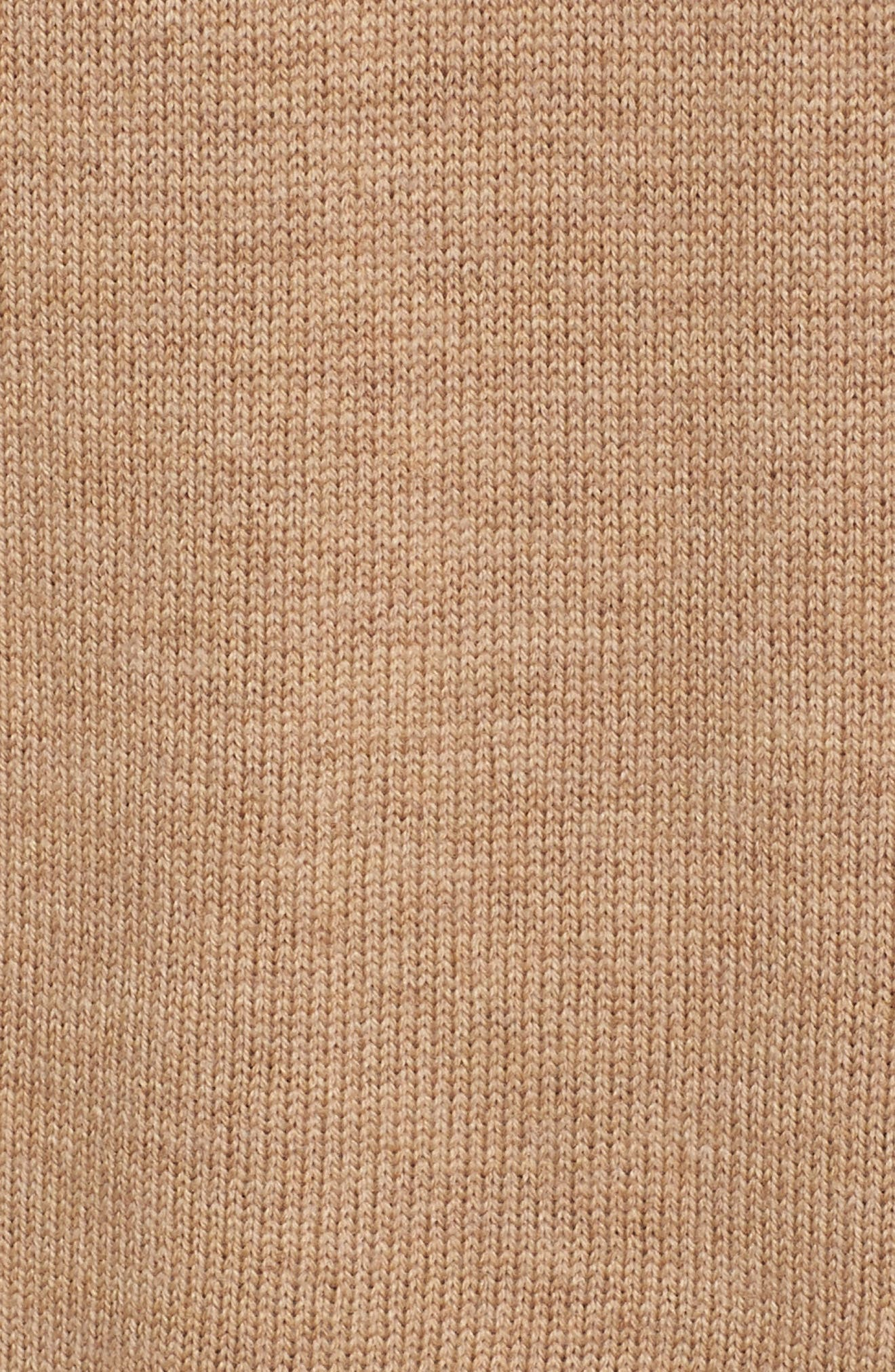 Muster Merino Wool Sweater,                             Alternate thumbnail 6, color,                             CAMEL HEATHER
