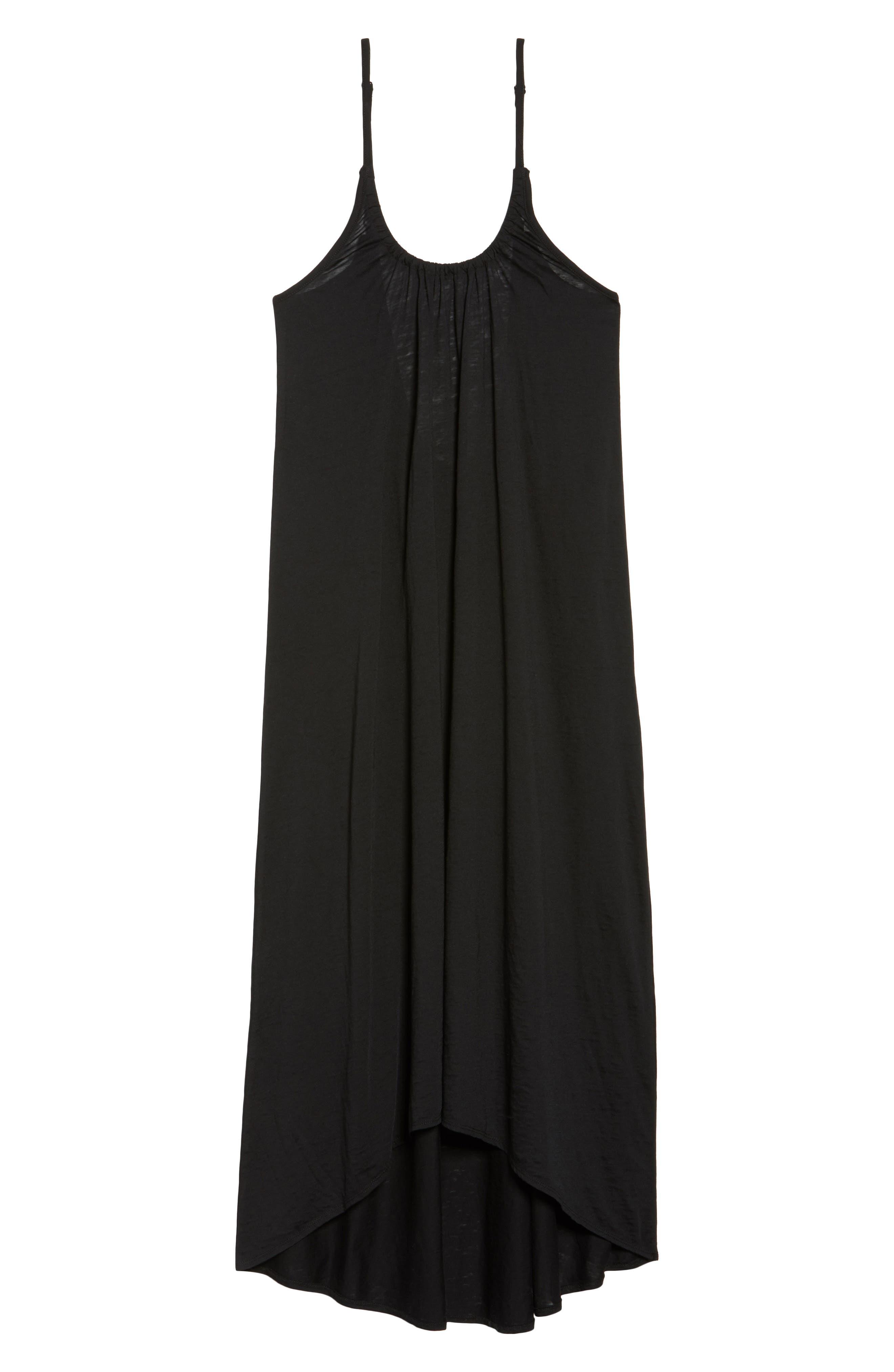 Maxi Cover-Up Dress,                             Alternate thumbnail 6, color,                             001