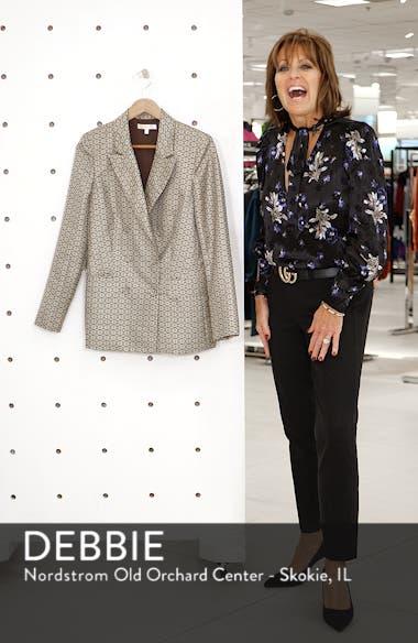 Finn Metallic Daisy Double Breasted Blazer, sales video thumbnail