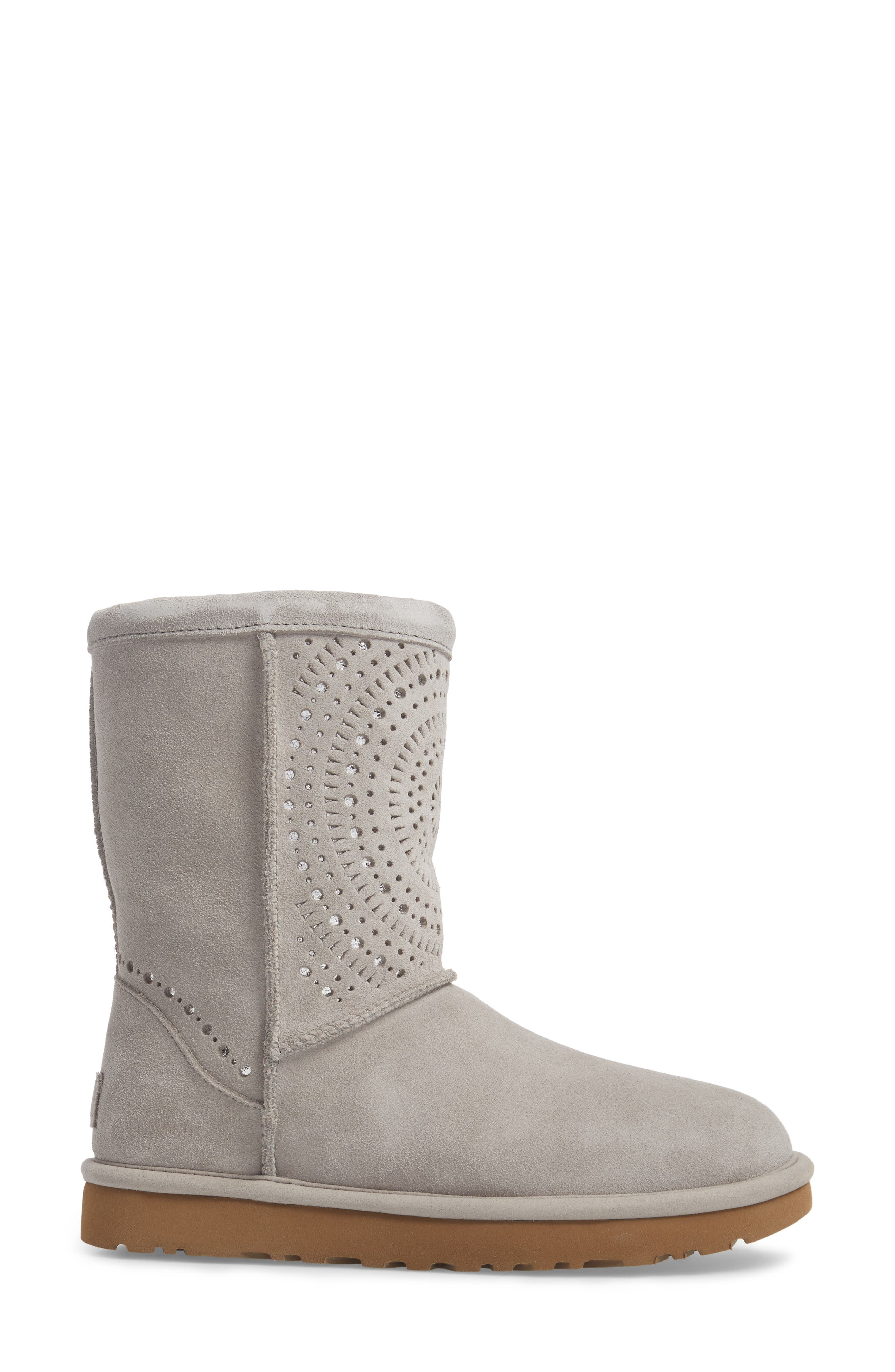 Classic Short Sunshine Perforated Boot,                             Alternate thumbnail 7, color,