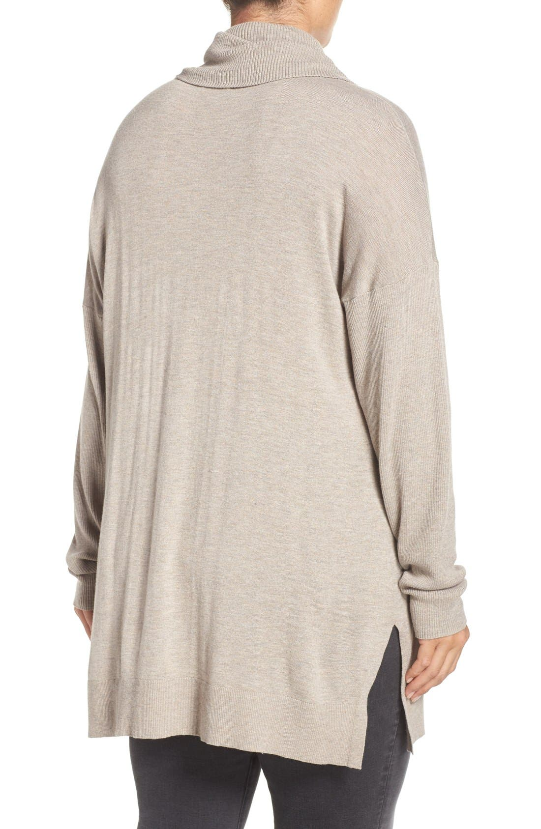 Cowl Neck Tunic Sweater,                             Alternate thumbnail 13, color,