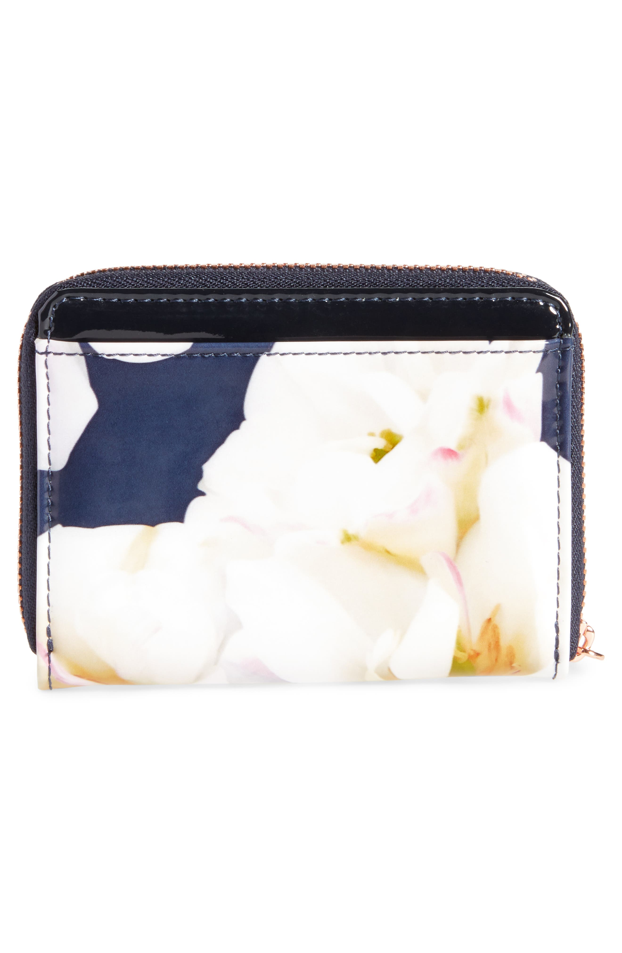 Small Kirsty Gardenia Zip Around Leather Wallet,                             Alternate thumbnail 4, color,                             402