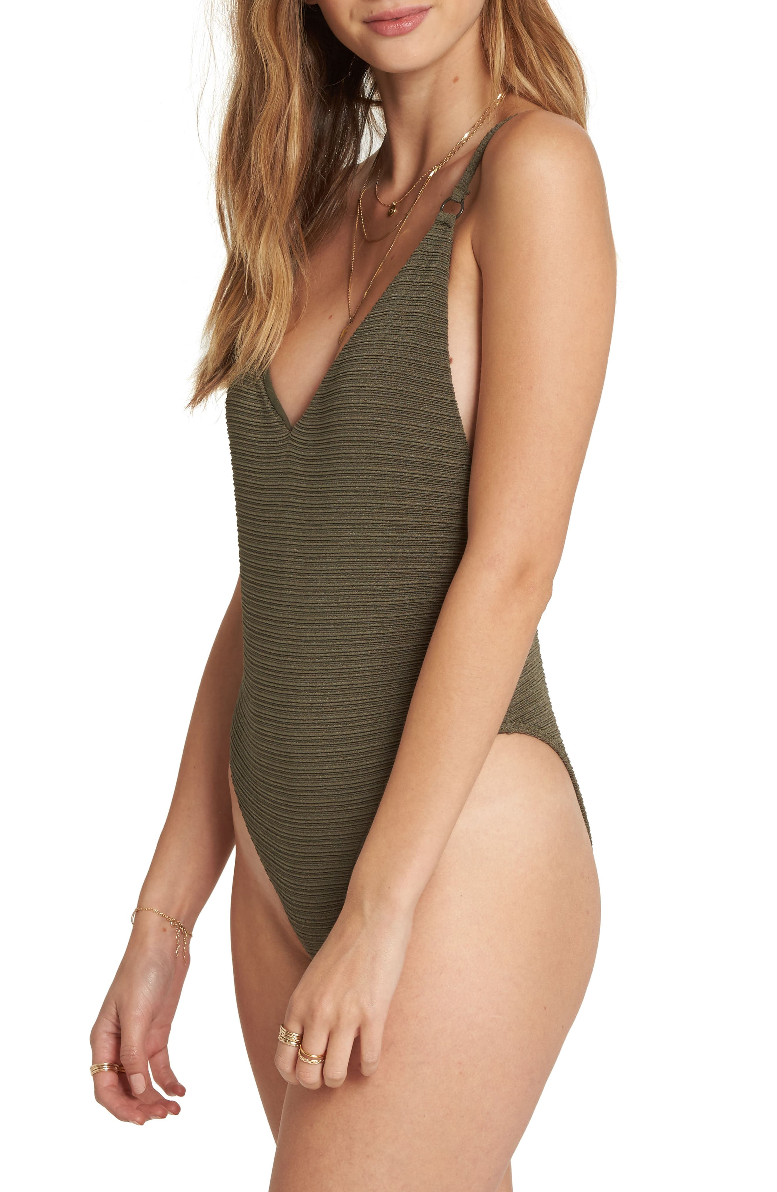 No Hurry One-Piece Swimsuit,                             Alternate thumbnail 3, color,                             OLIVE