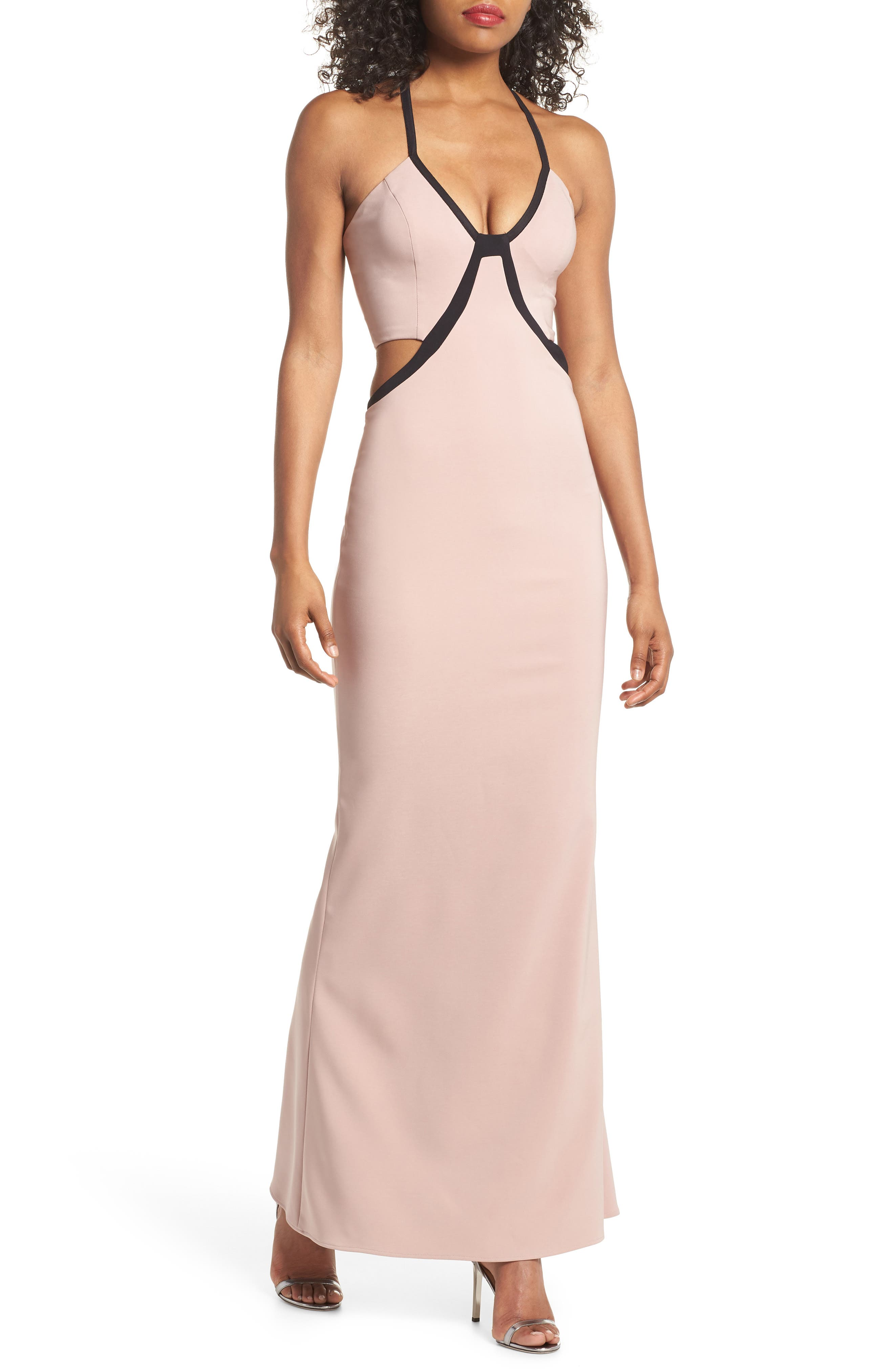 Chloe Bodice Cutout Gown,                         Main,                         color,
