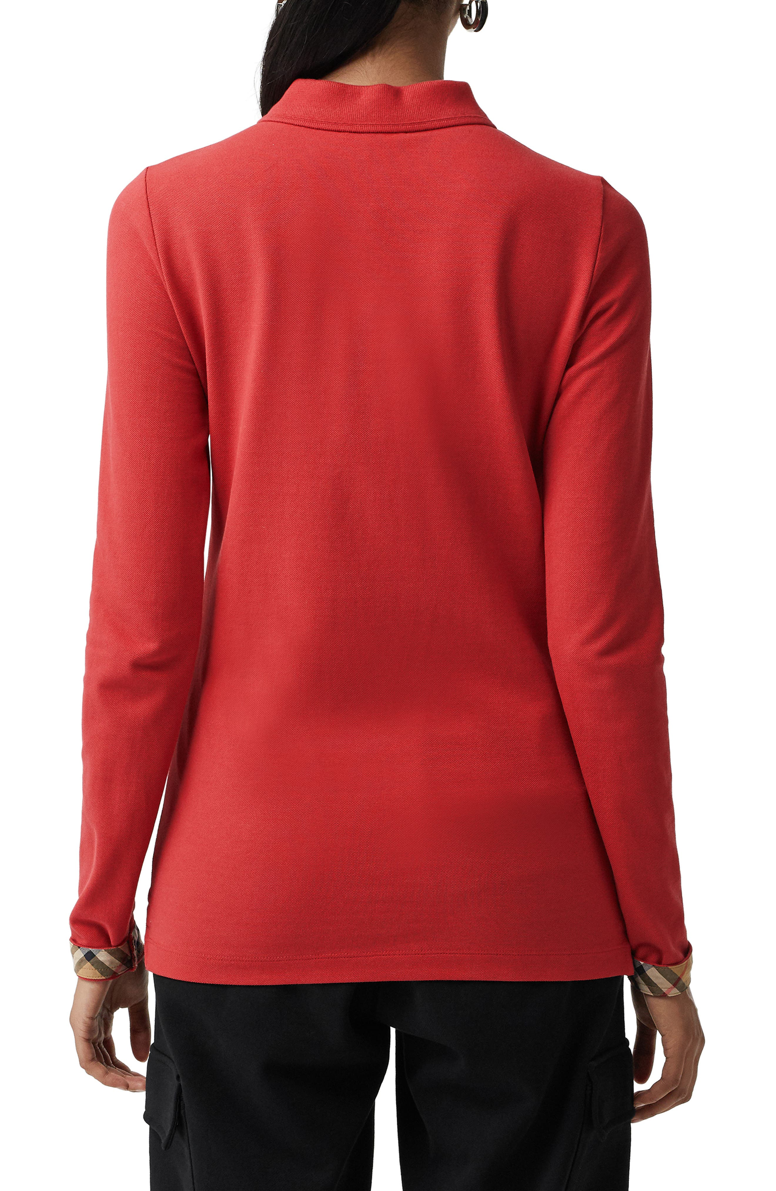 Zulia Polo Shirt,                             Alternate thumbnail 2, color,                             BRIGHT RED