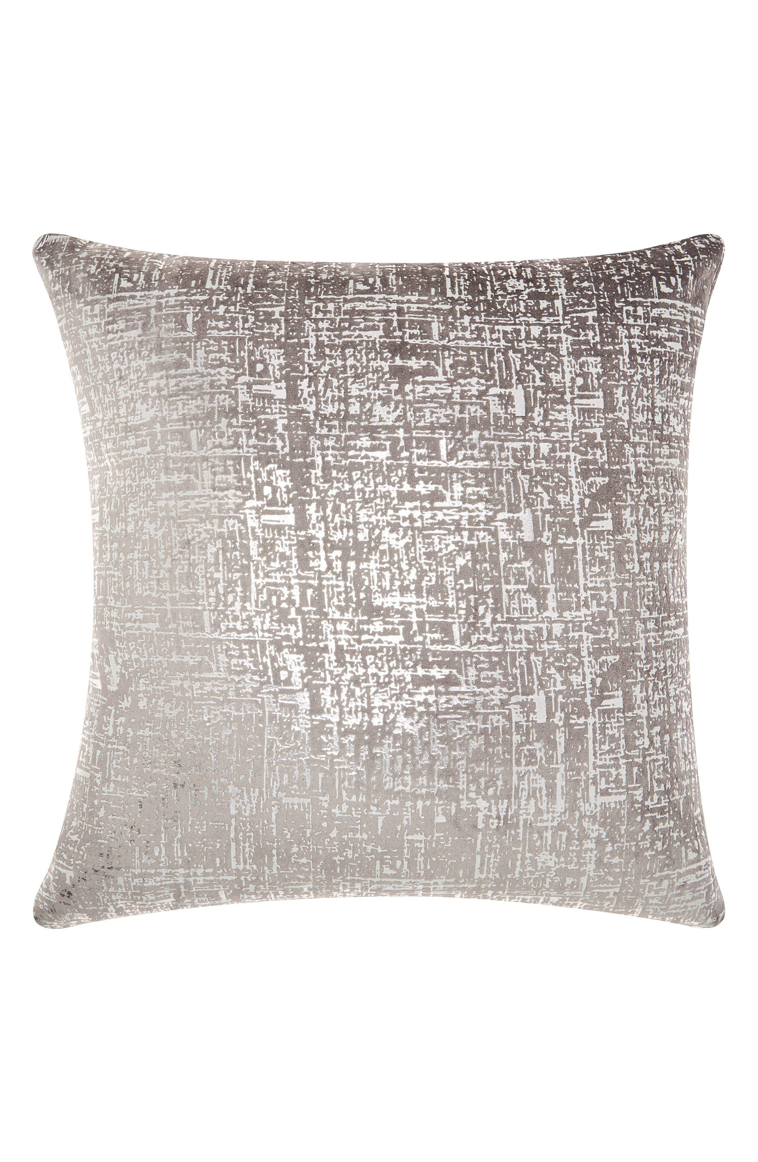 Distressed Velvet Accent Pillow,                             Main thumbnail 1, color,                             030