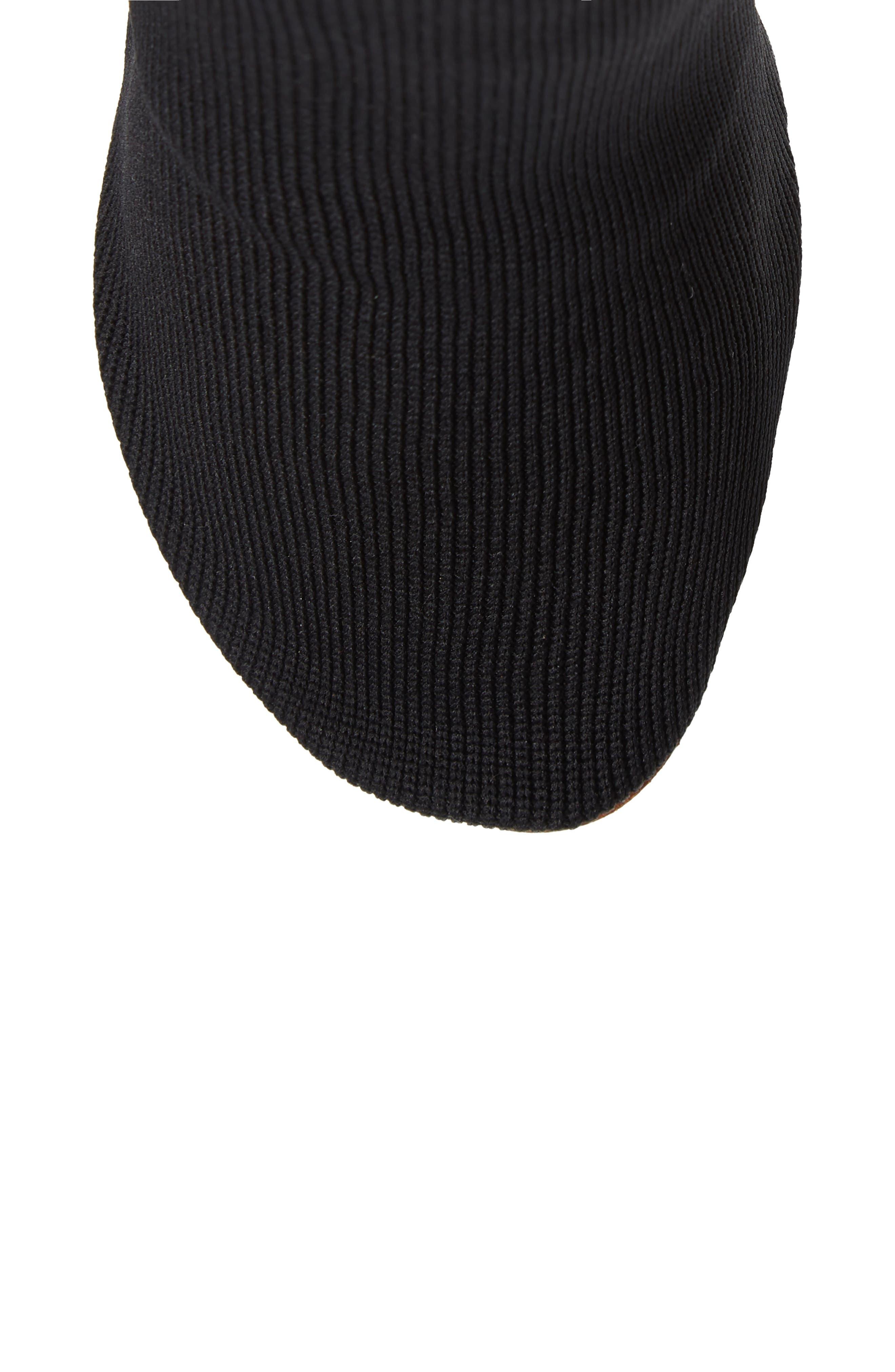 Lighter Sock Boot,                             Alternate thumbnail 5, color,                             BLACK/PRINTED HEEL