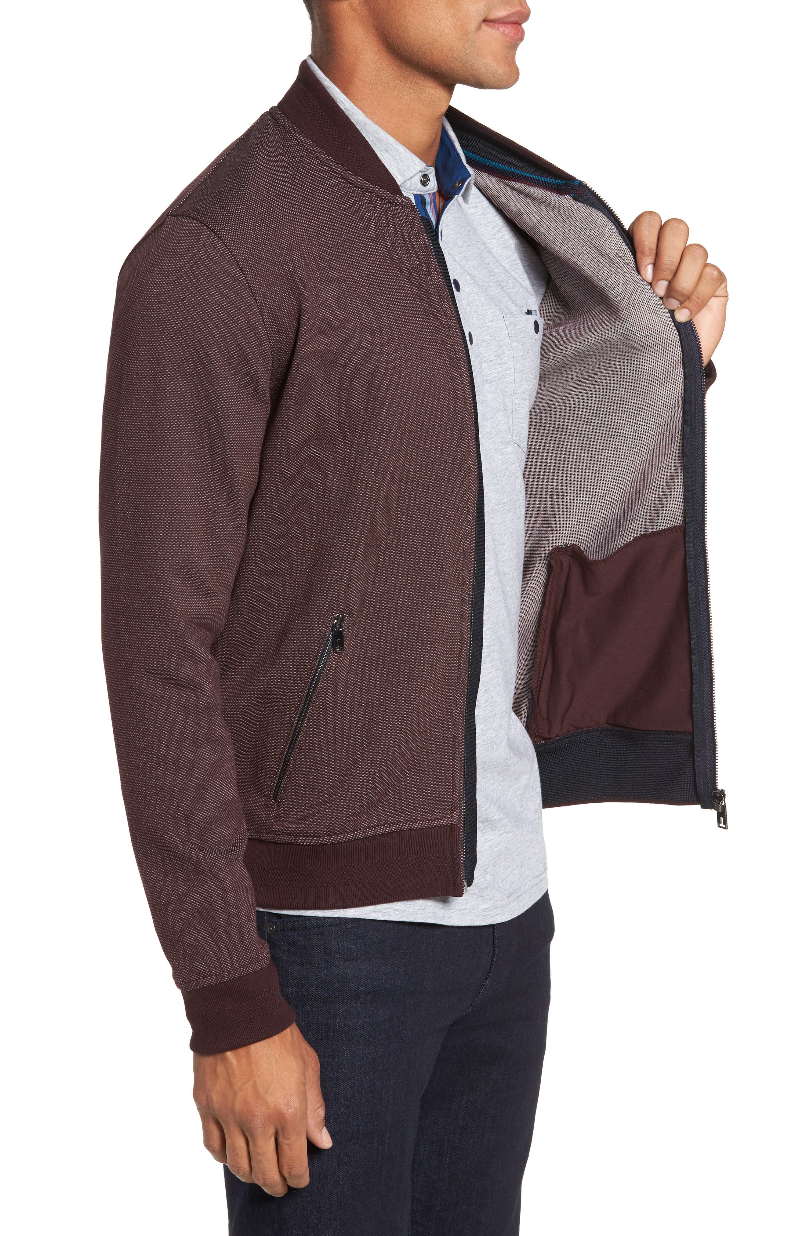 Fowler Jersey Bomber Jacket,                             Alternate thumbnail 3, color,                             601