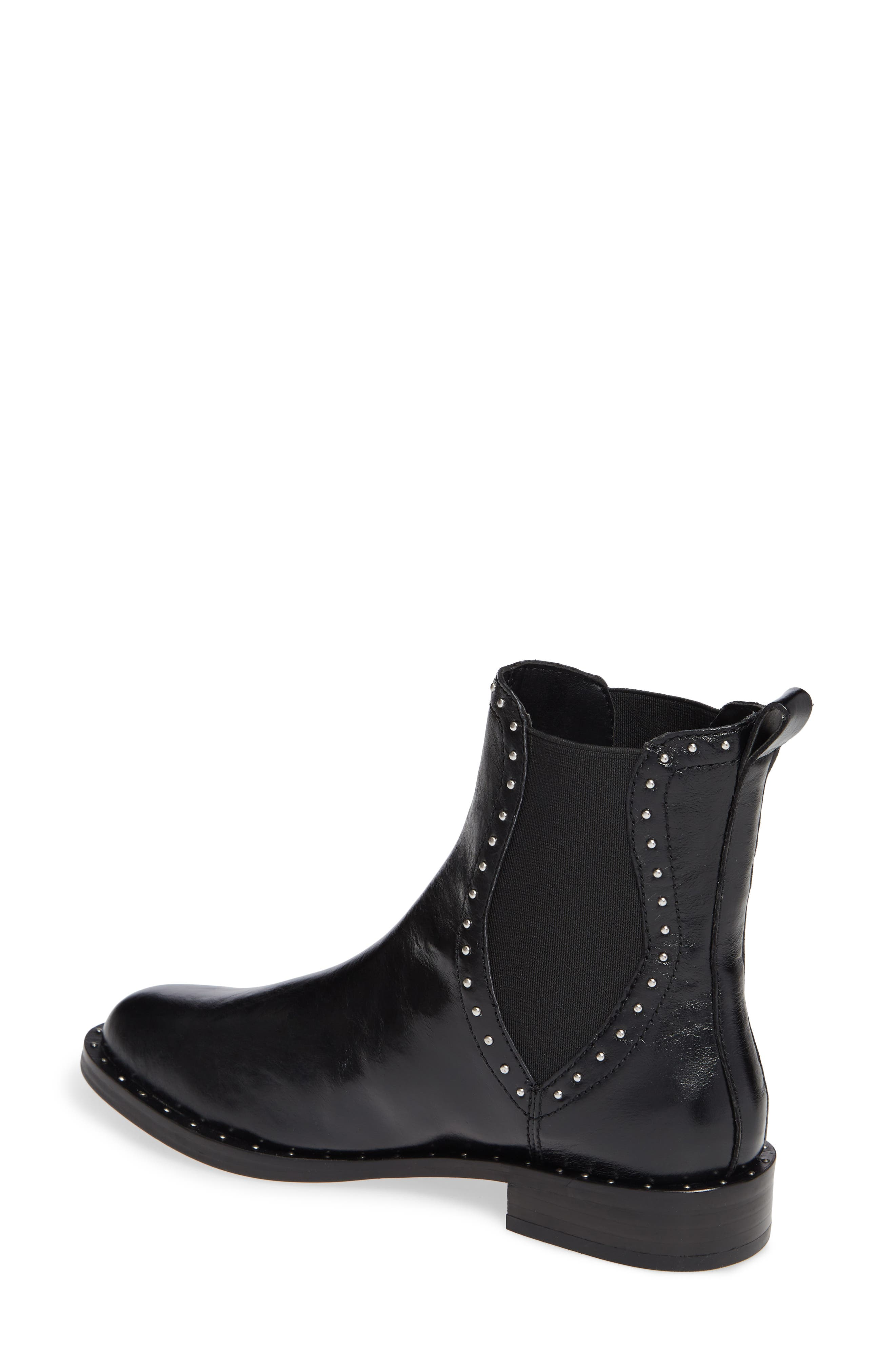 Sabeen Chelsea Bootie,                             Alternate thumbnail 2, color,                             BLACK LEATHER