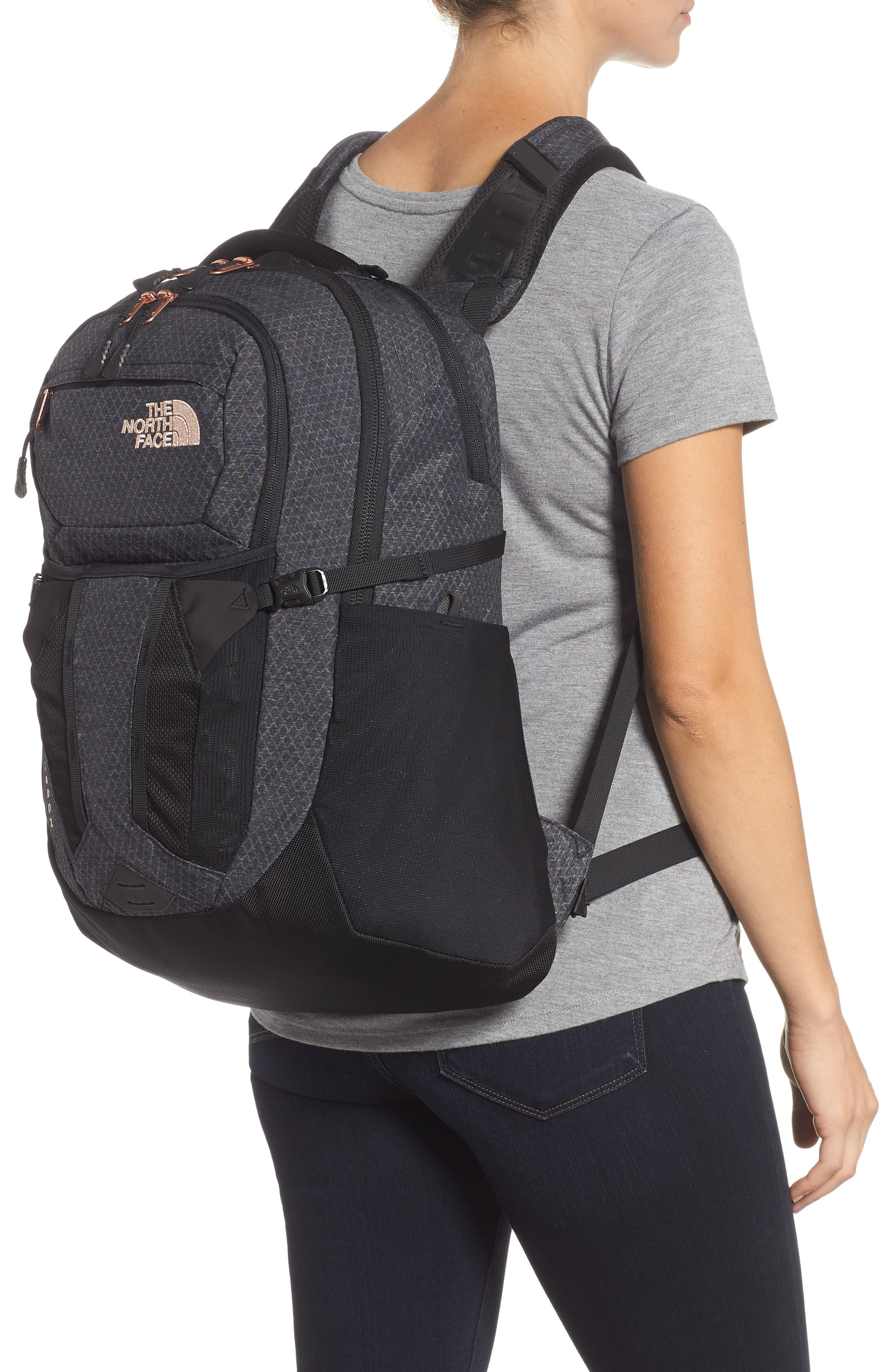 'Recon' Backpack,                             Alternate thumbnail 2, color,                             TNF BLACK HEATHER/ BURNT CORAL