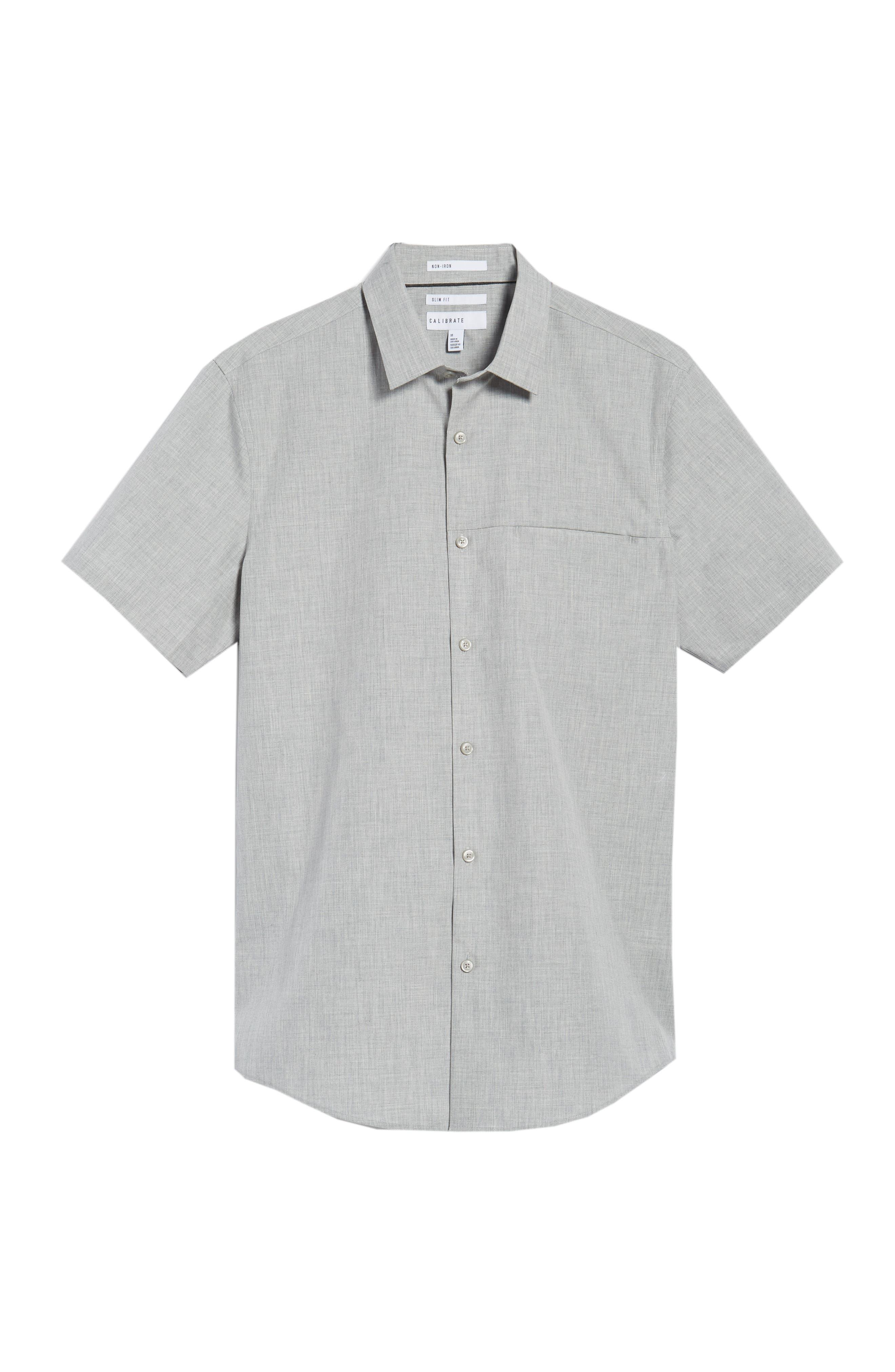 Trim Fit Slash Pocket Sport Shirt,                             Alternate thumbnail 6, color,                             050