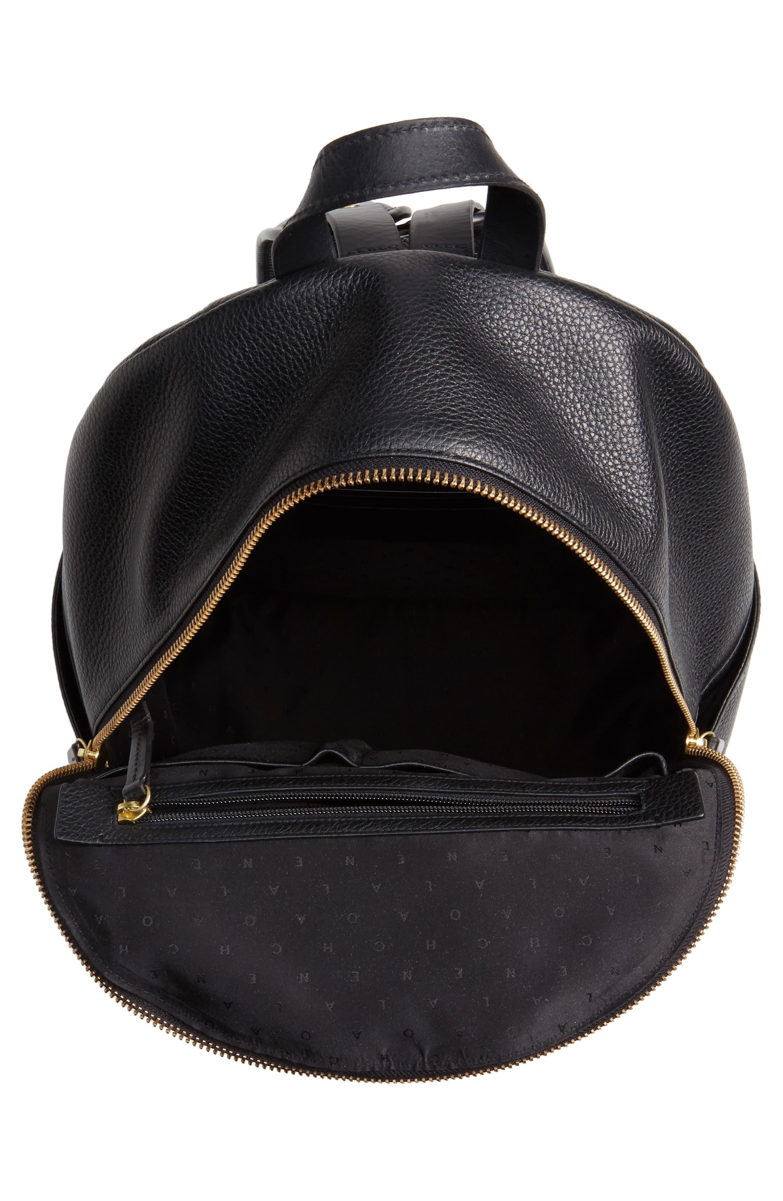 Brayton Leather Backpack,                             Alternate thumbnail 4, color,                             001