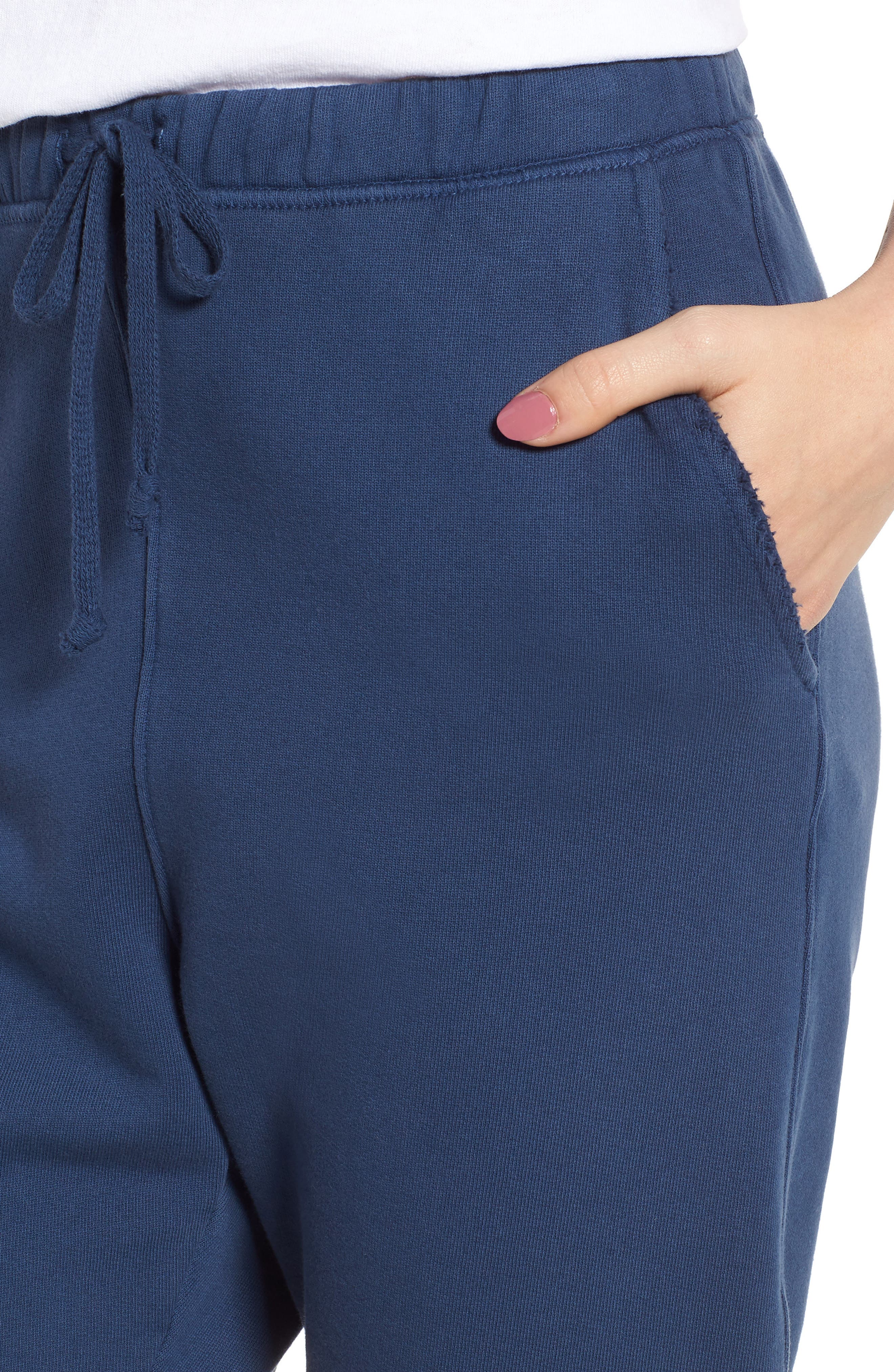 Raw Hem Crop Sweatpants,                             Alternate thumbnail 4, color,                             410