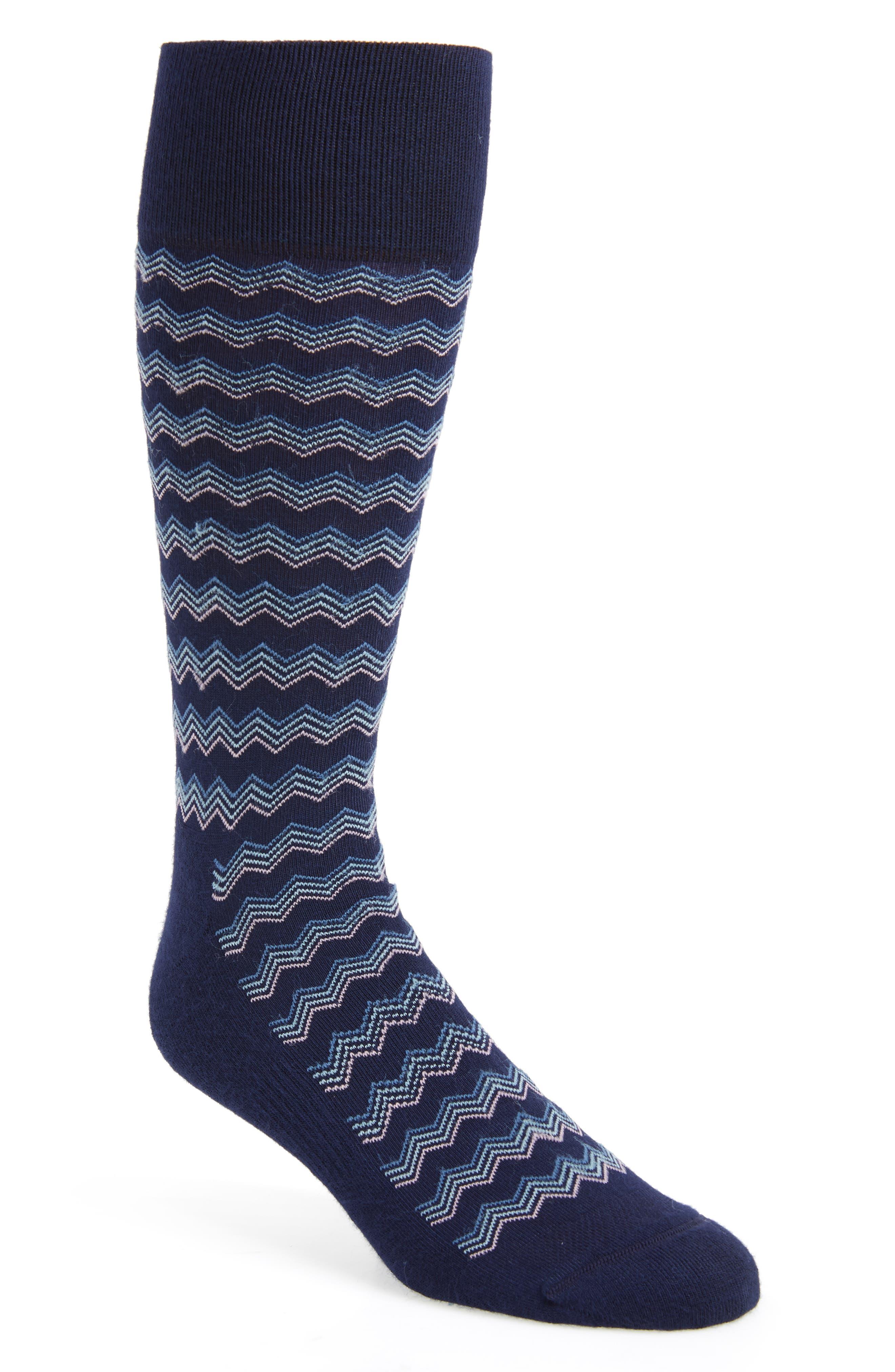 Stripe Socks,                             Main thumbnail 1, color,                             NAVY/ BLUE