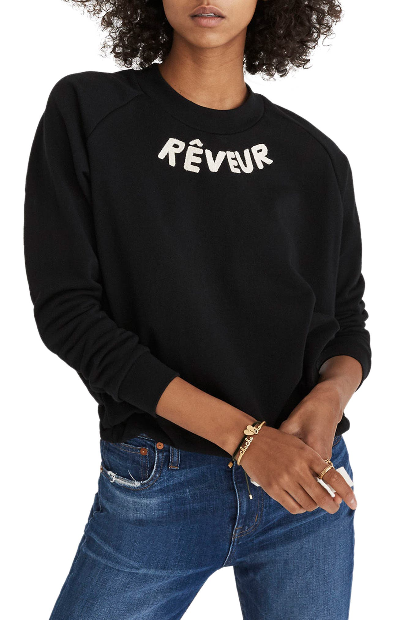 Rêveur Drawstring Sweatshirt,                             Main thumbnail 1, color,