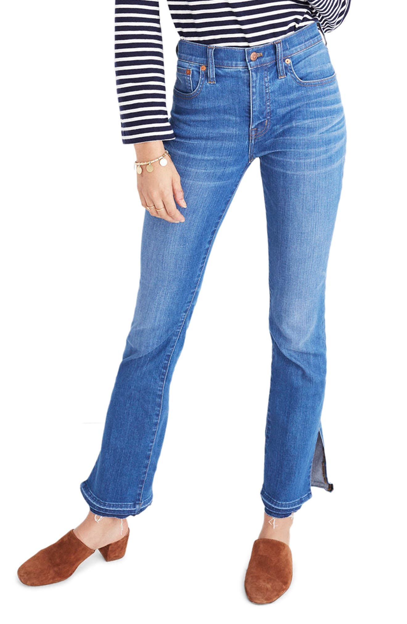 MADEWELL Cali Split Hem Demi Boot Jeans, Main, color, 421