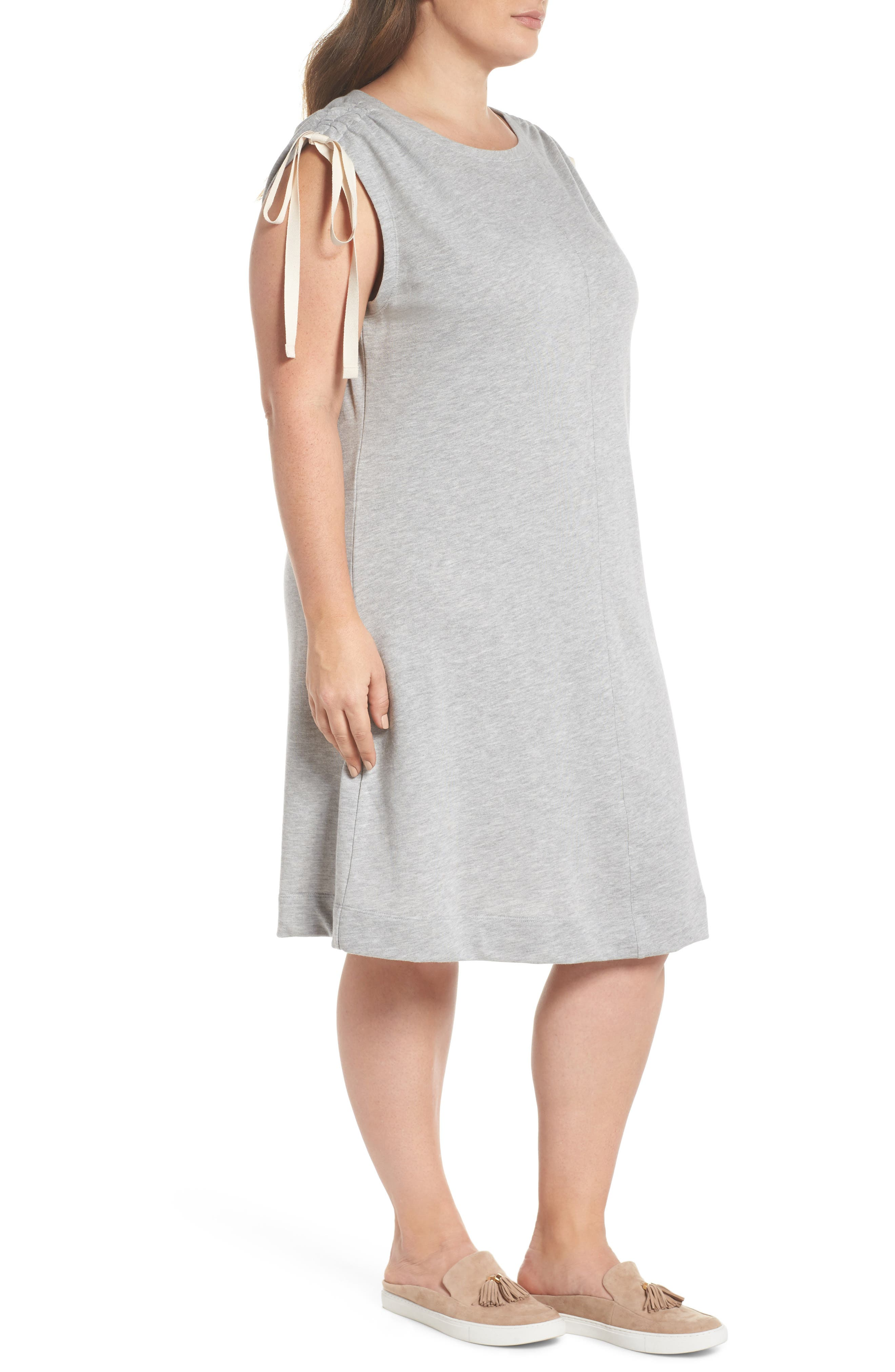 Ruched Shoulder Shift Dress,                             Alternate thumbnail 3, color,                             030